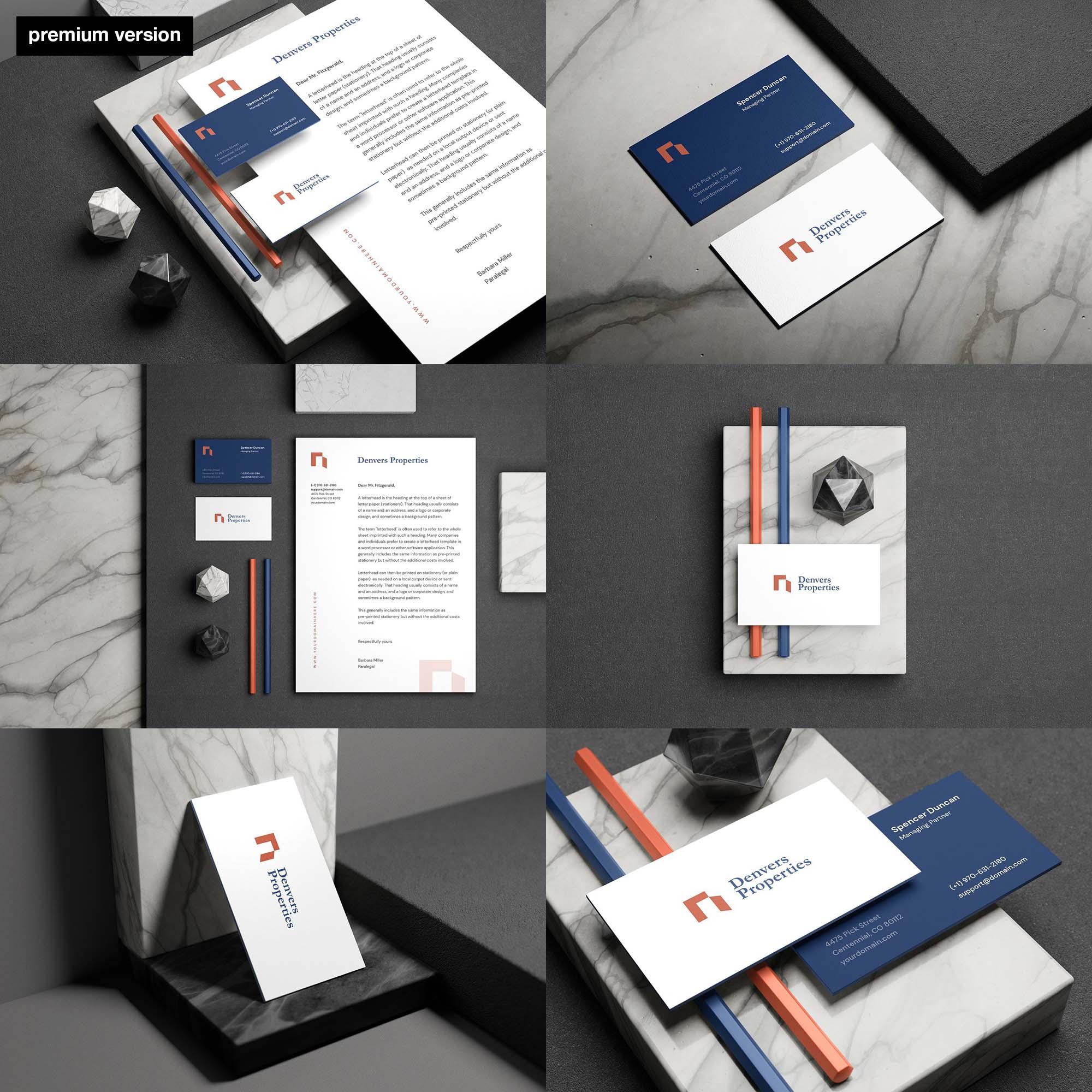 Minimal Stationery Mockup - Premium Version