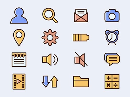 Mobile App Vector Icons