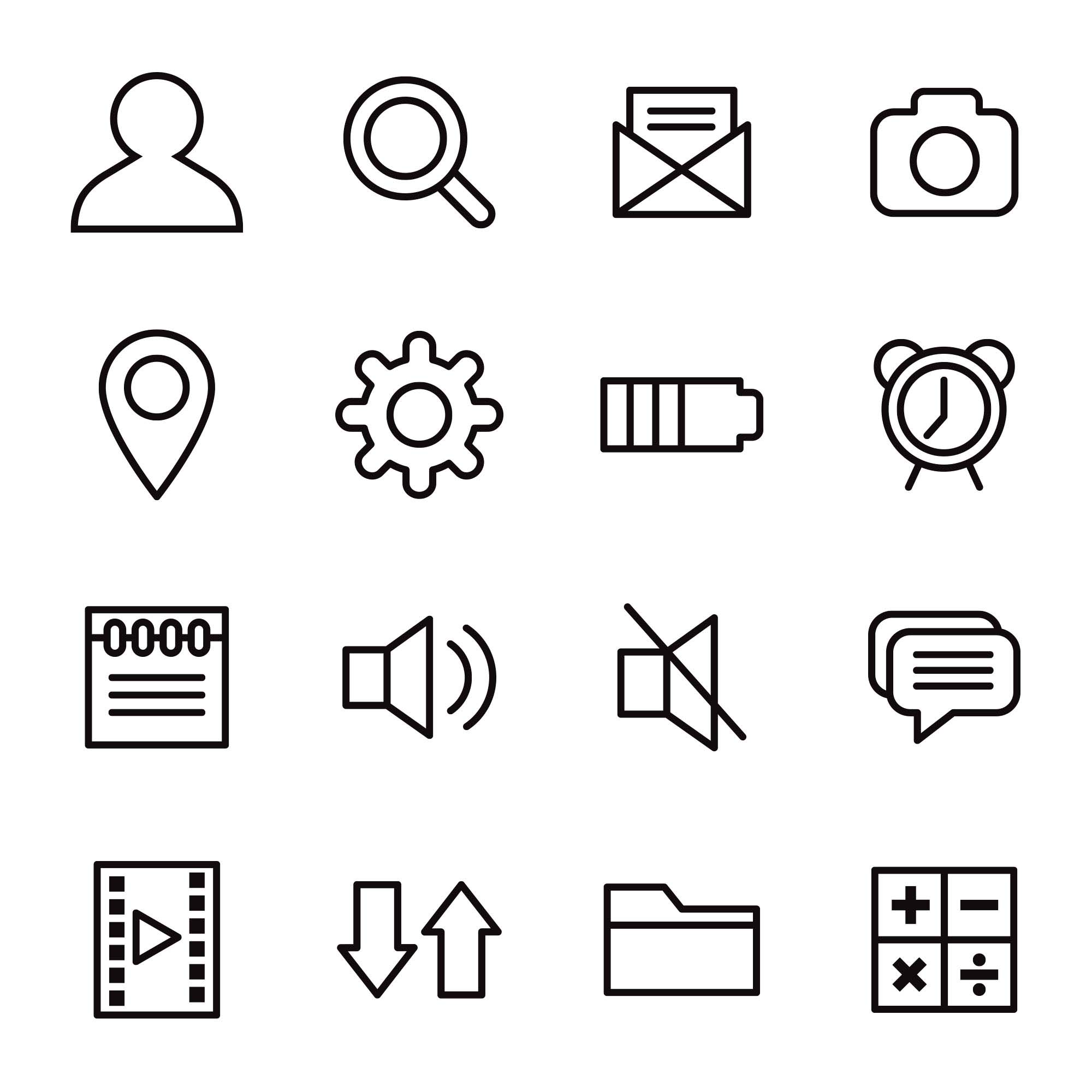 Mobile App Vector Icons 2