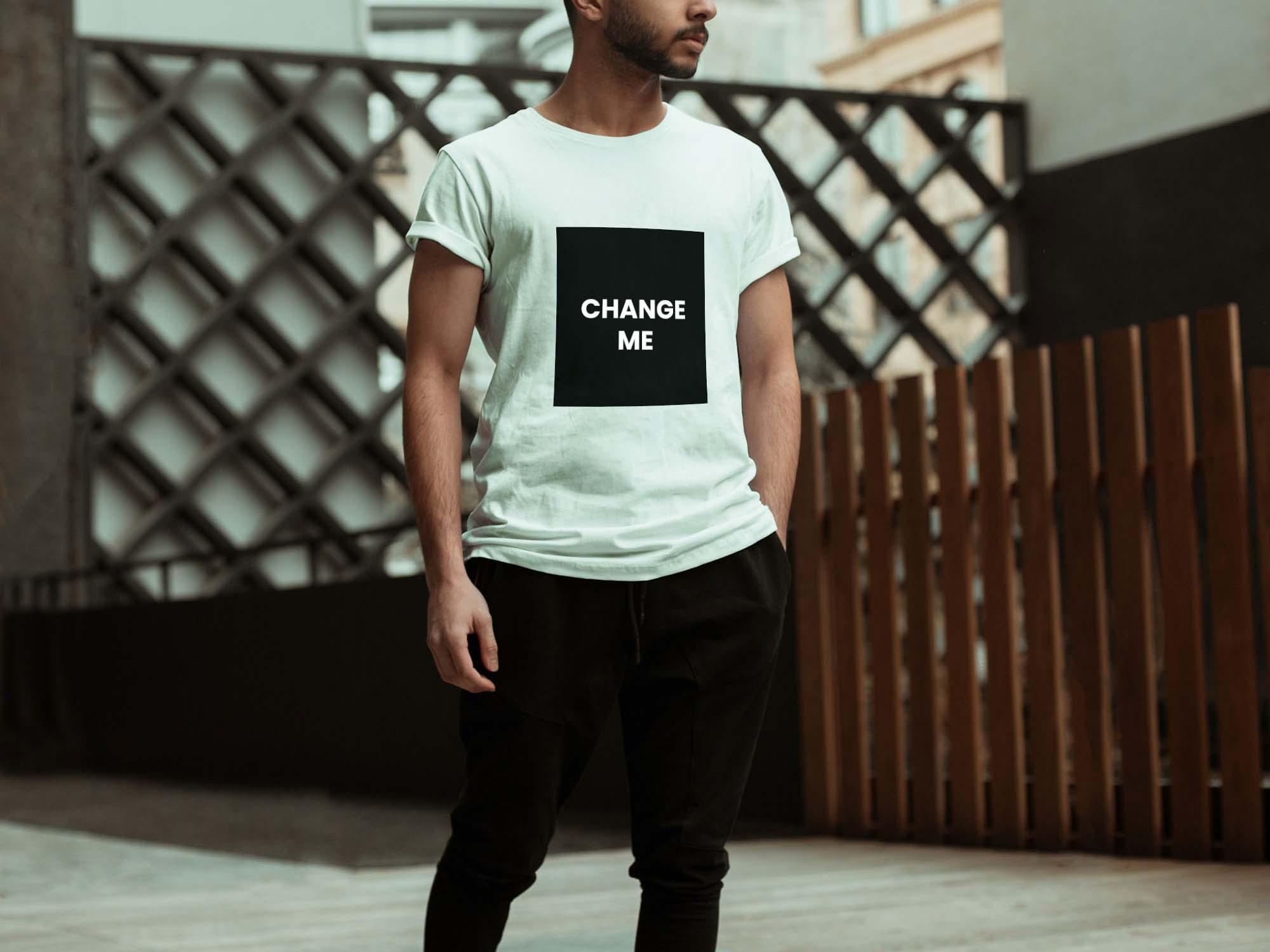 Model T-shirt Mockup 2