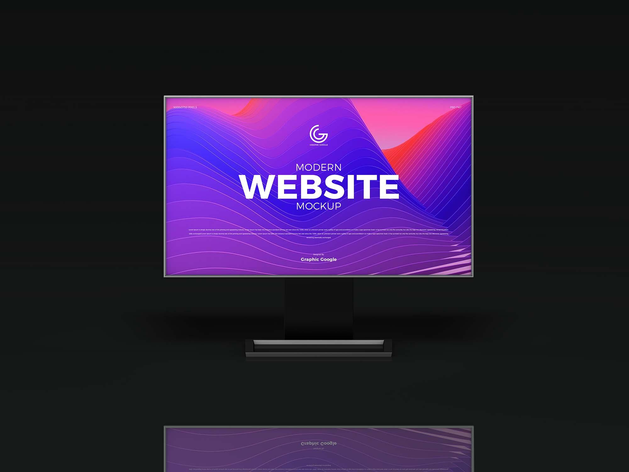 Modern Website Mockup