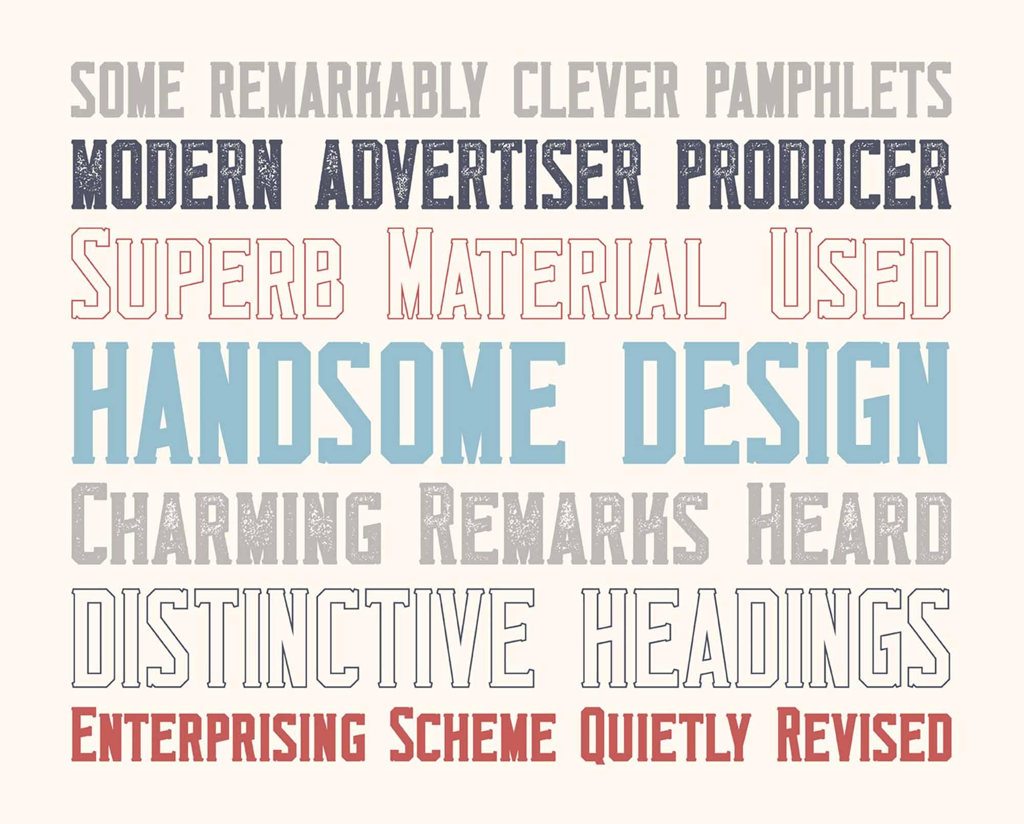 Monkstead Display Font