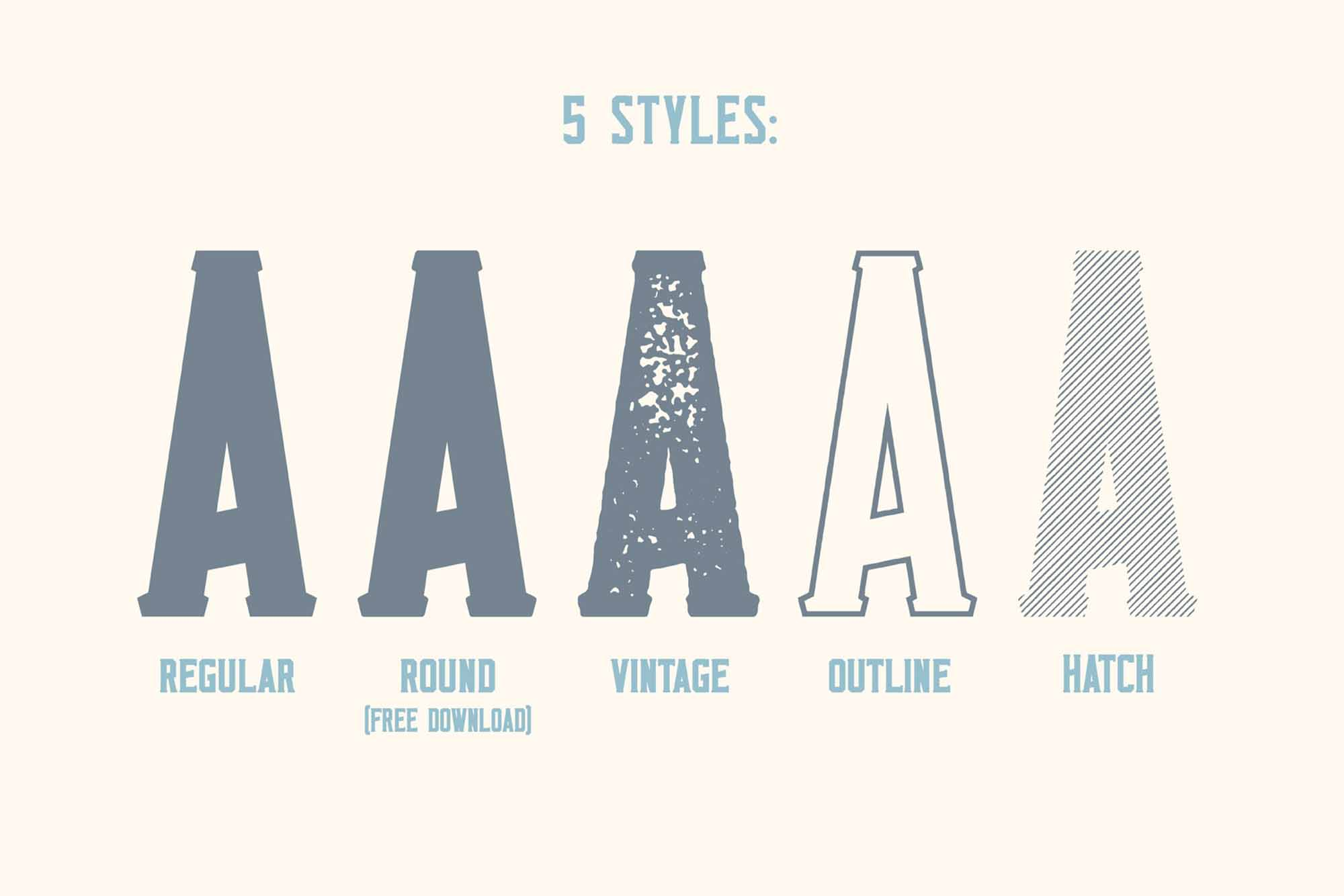 Monkstead Font 5 Styles