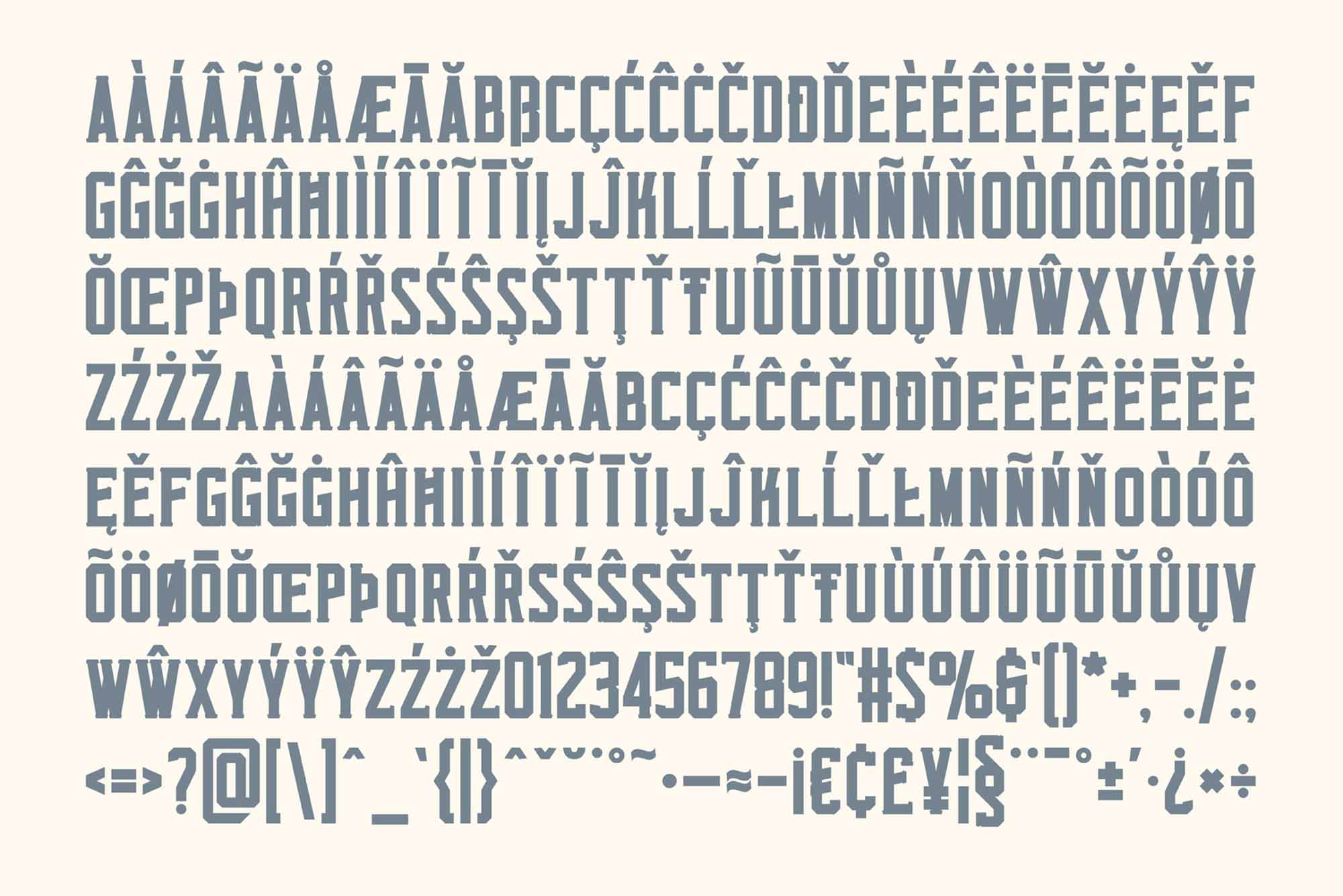 Monkstead Font Characters