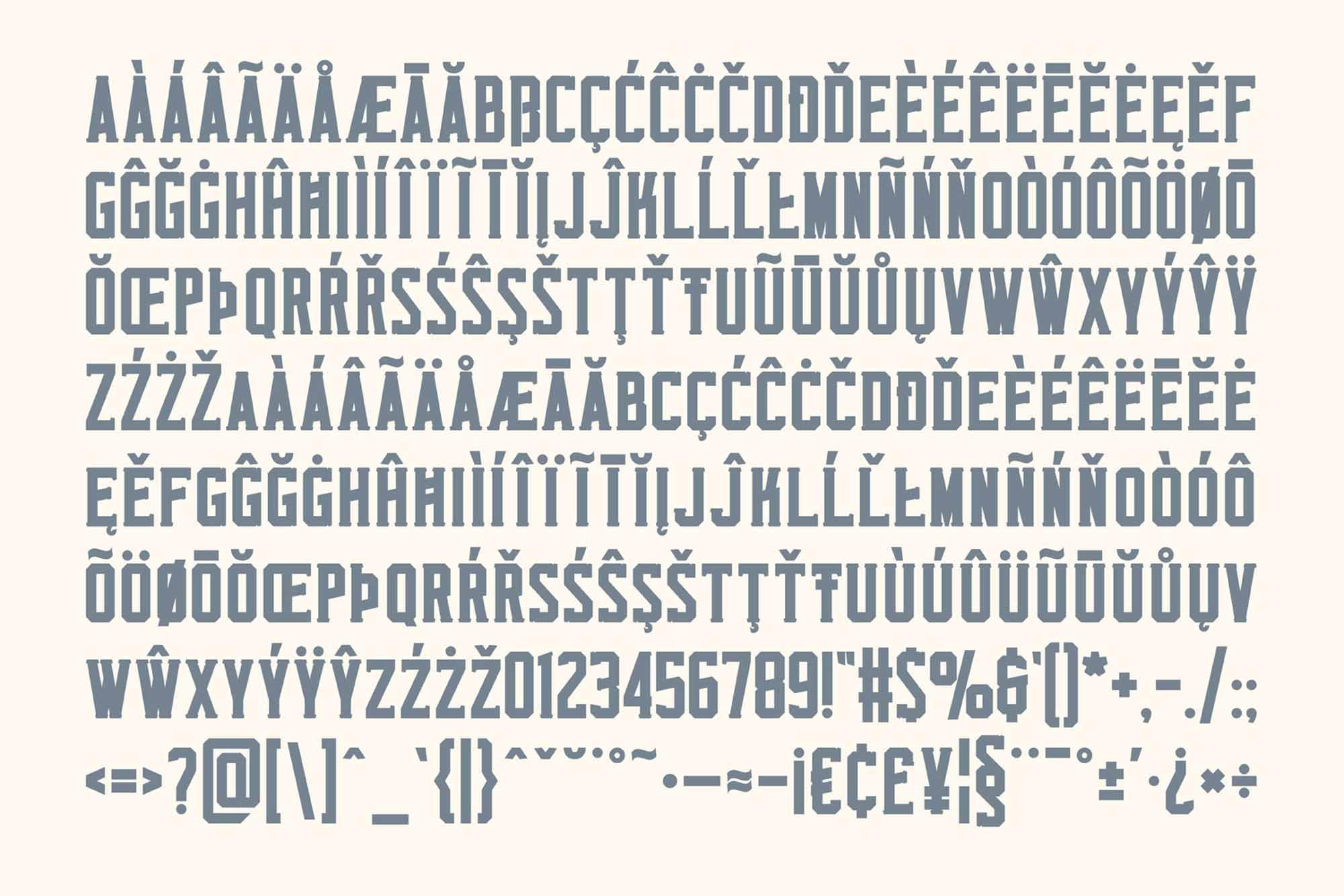 Monkstead Font Characters