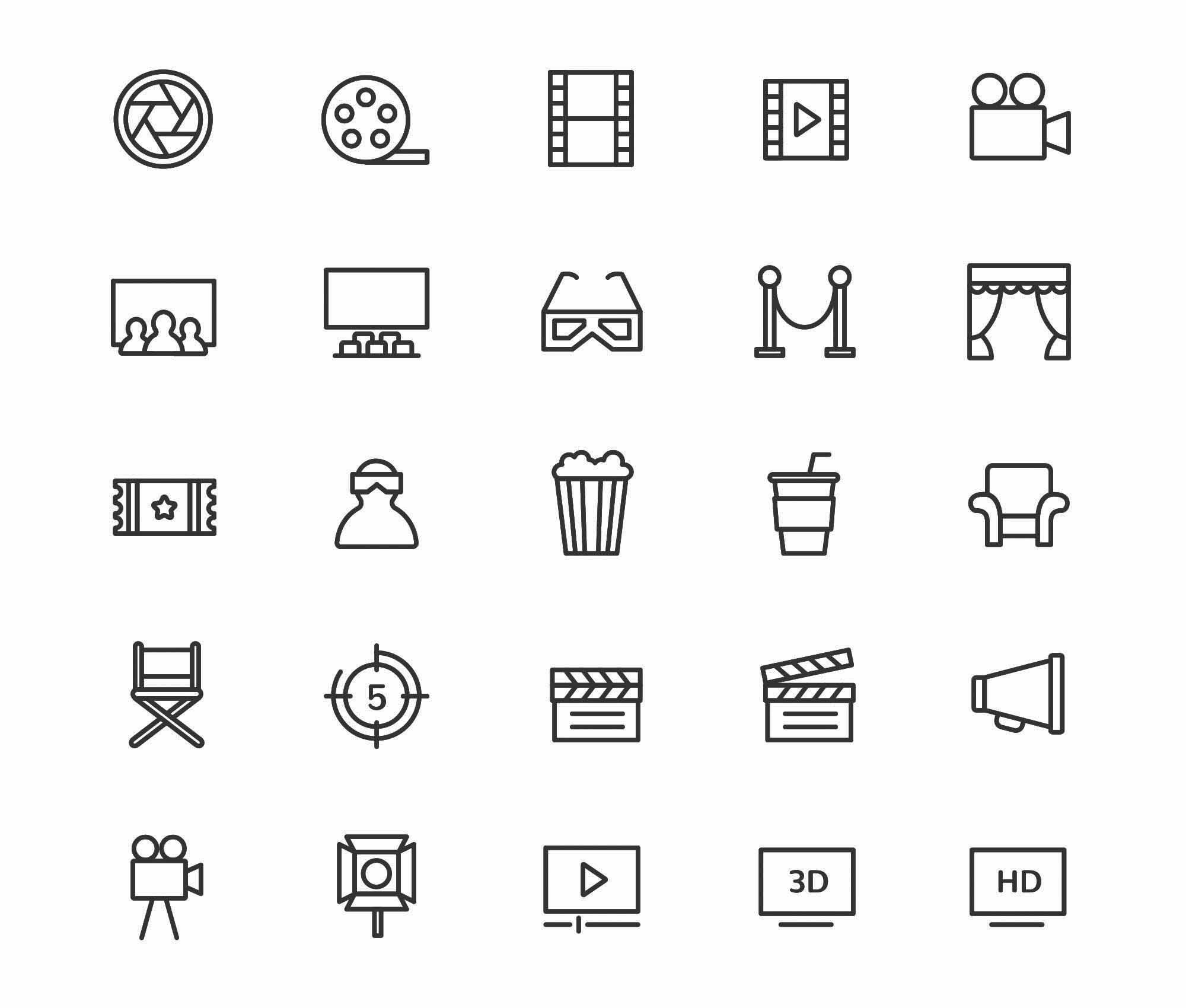 Movie & Cinema Icons