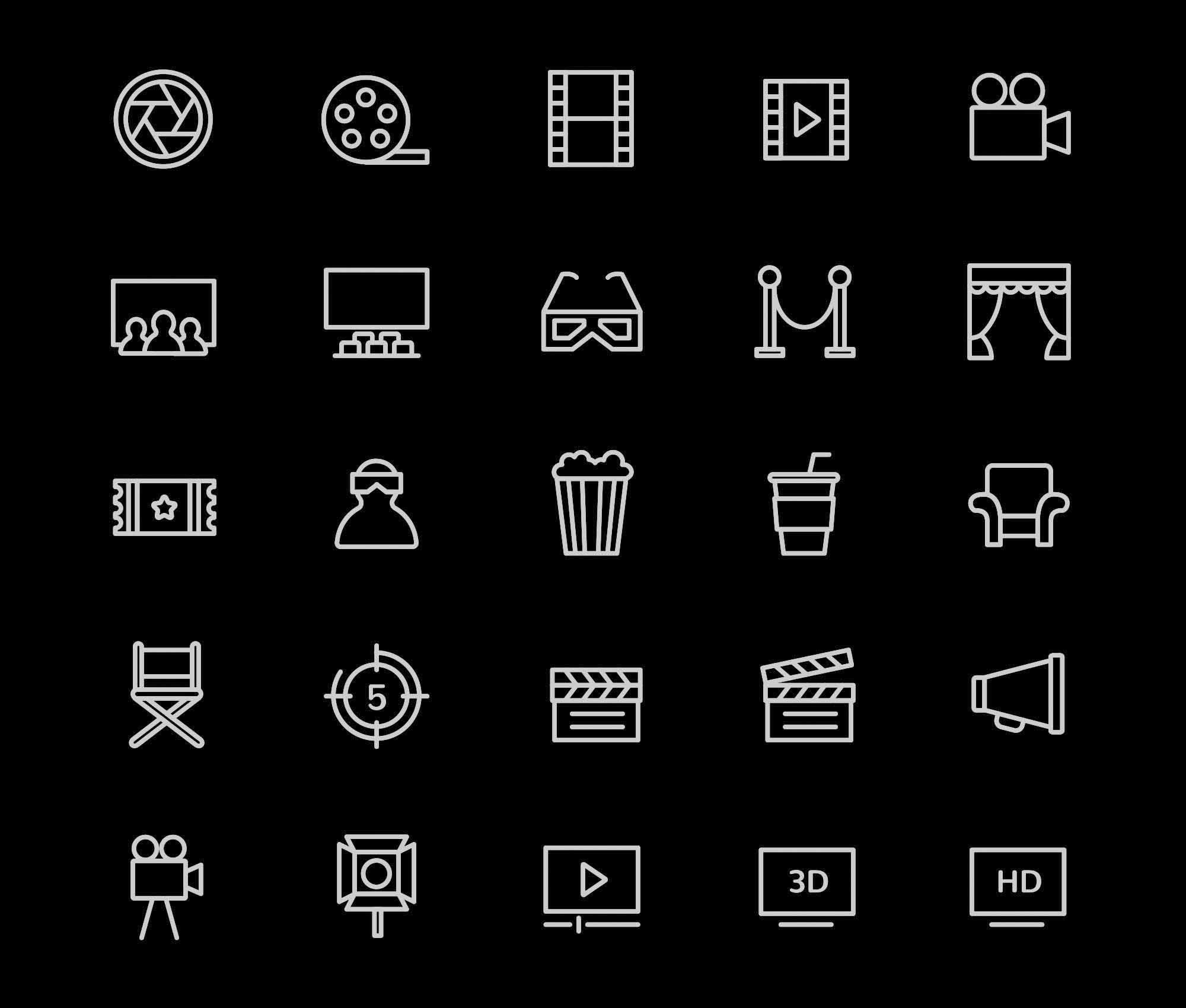 Movie & Cinema Icons 2