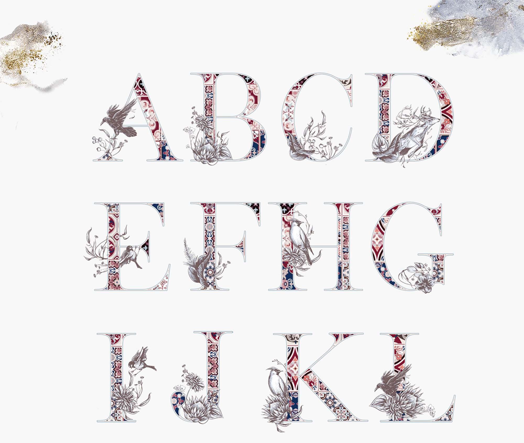 Noel Whisper Watercolor Alphabets 2-1