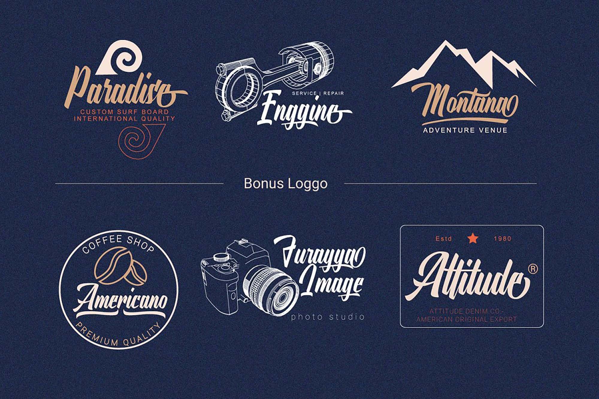 Onthel Calligraphy Font Badges