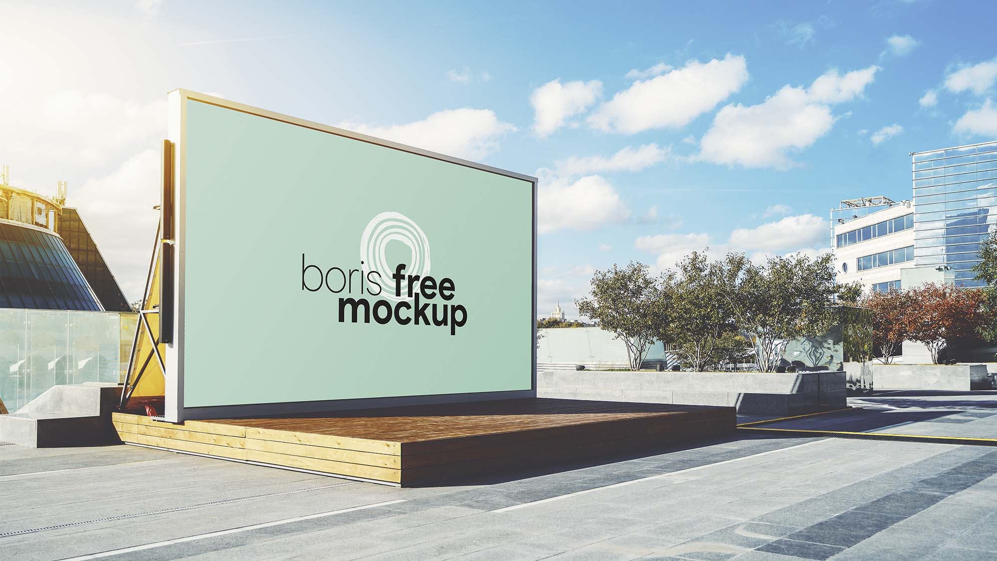 Outdoor Backdrop Mockup