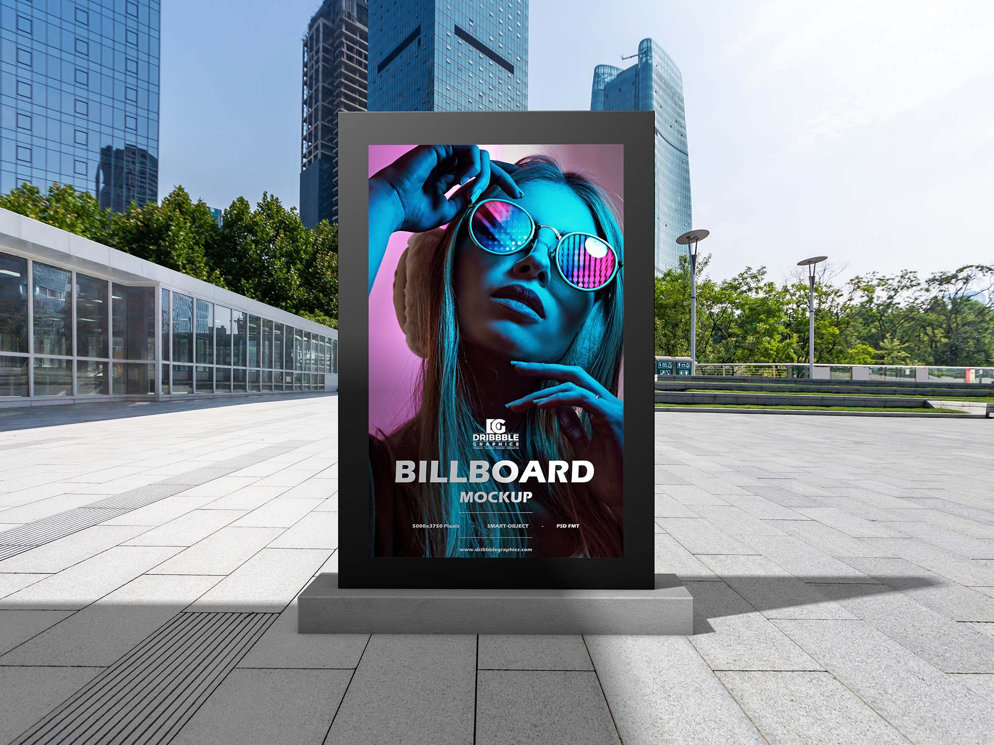 Outdoor Office Billboard Mockup