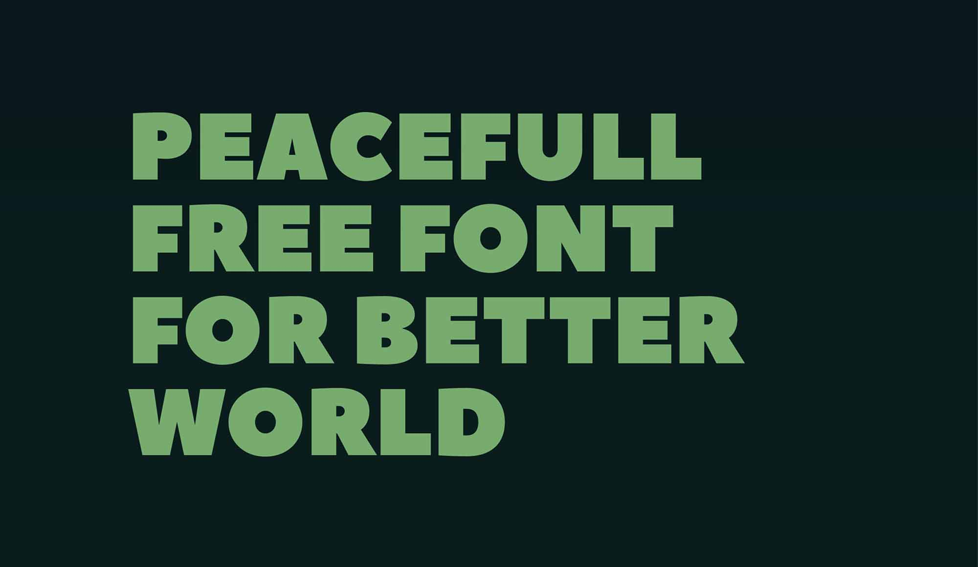 Peace Sans Font 2