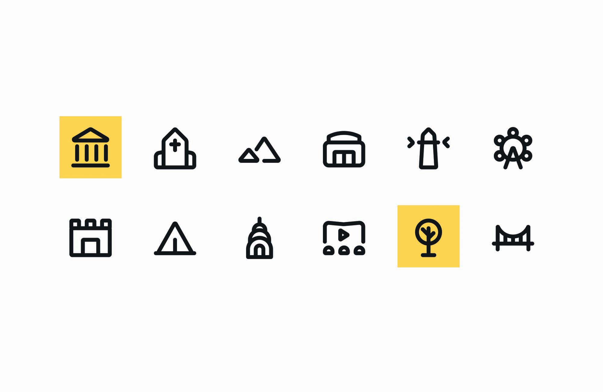 Places Vector Icons