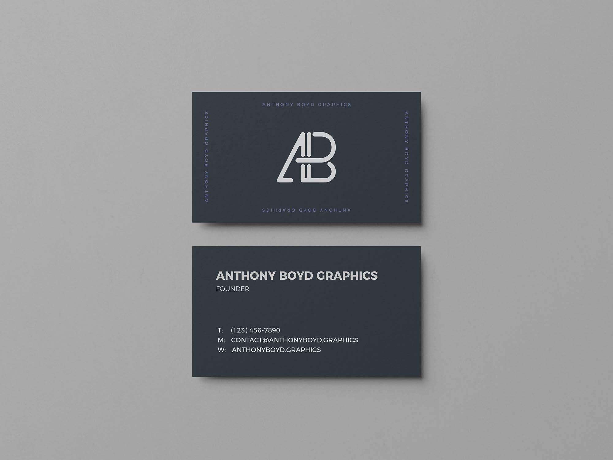 Plain Business Card Mockup