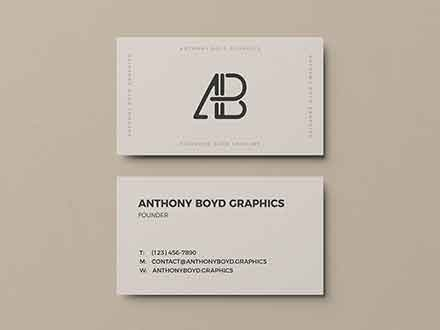 Plain Business Card Mockup
