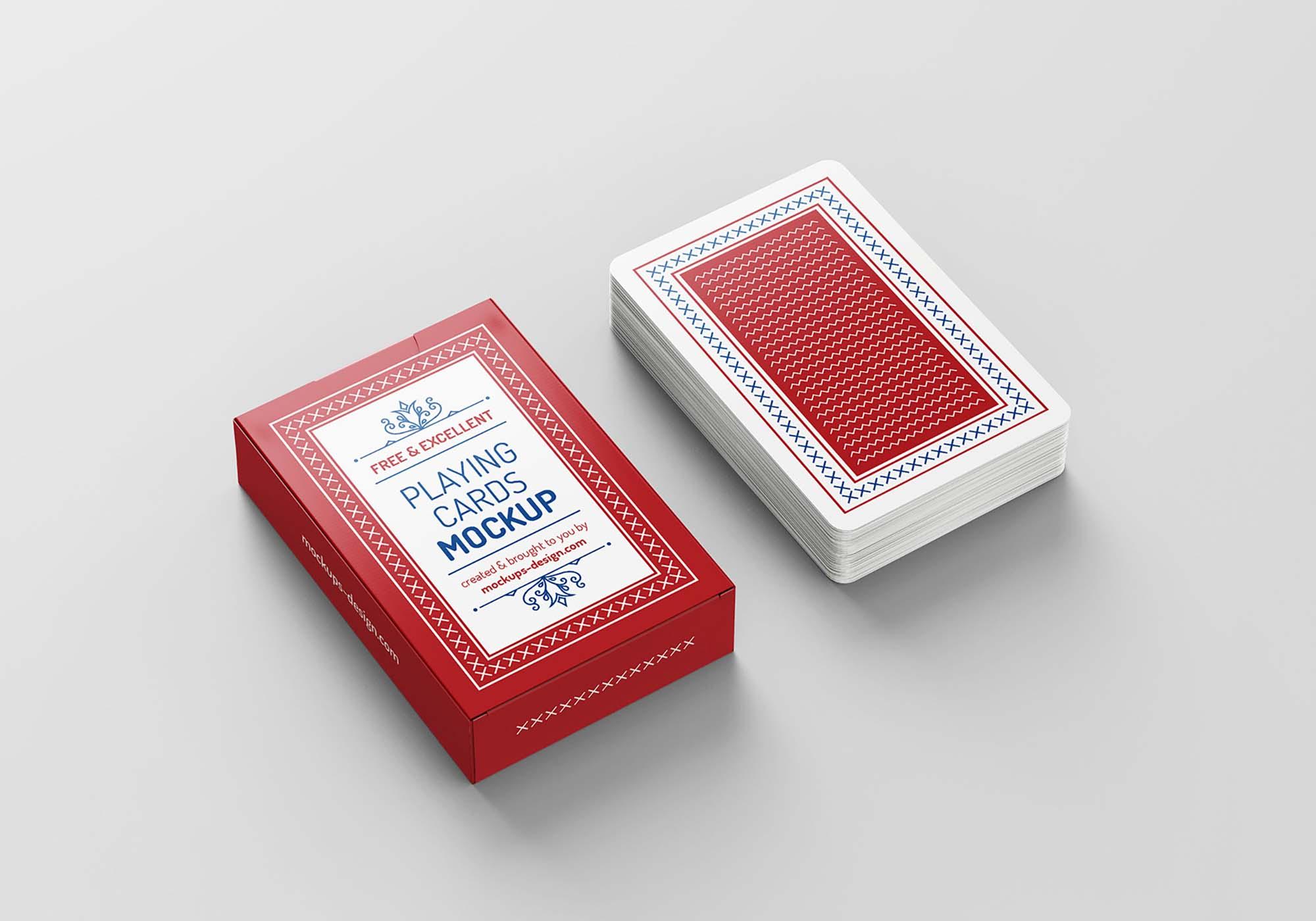 Playing Cards Mockup 2