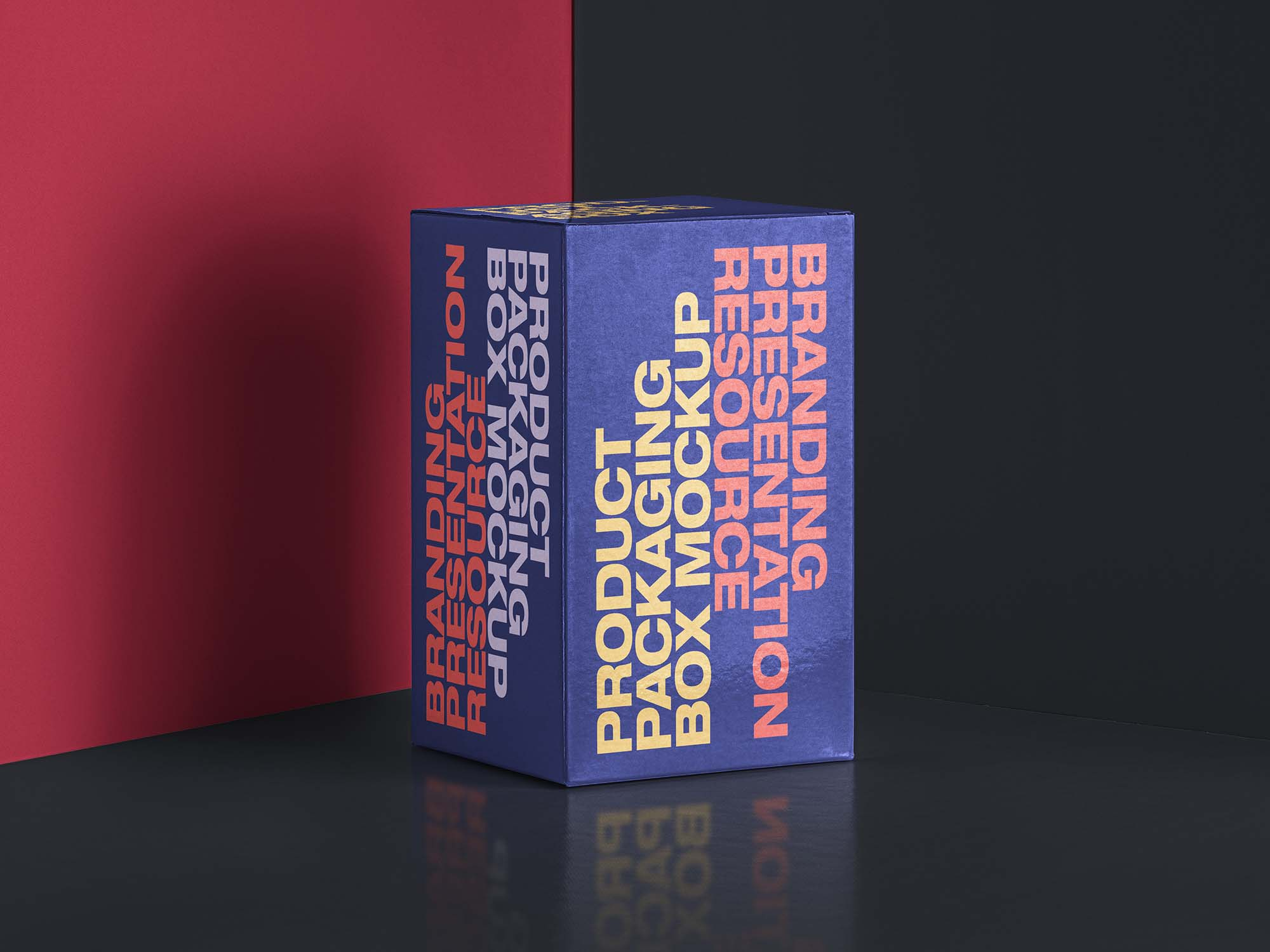 Rectangular Packaging Box Mockup