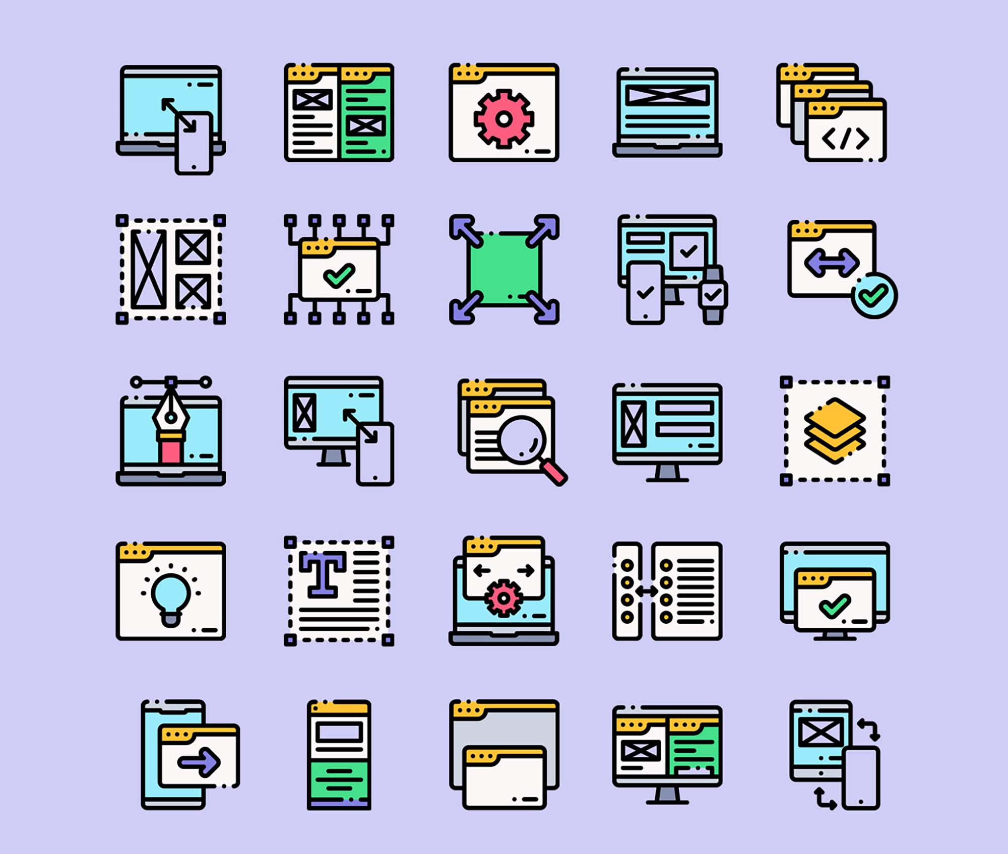 Responsive Design Vector Icons Part 1