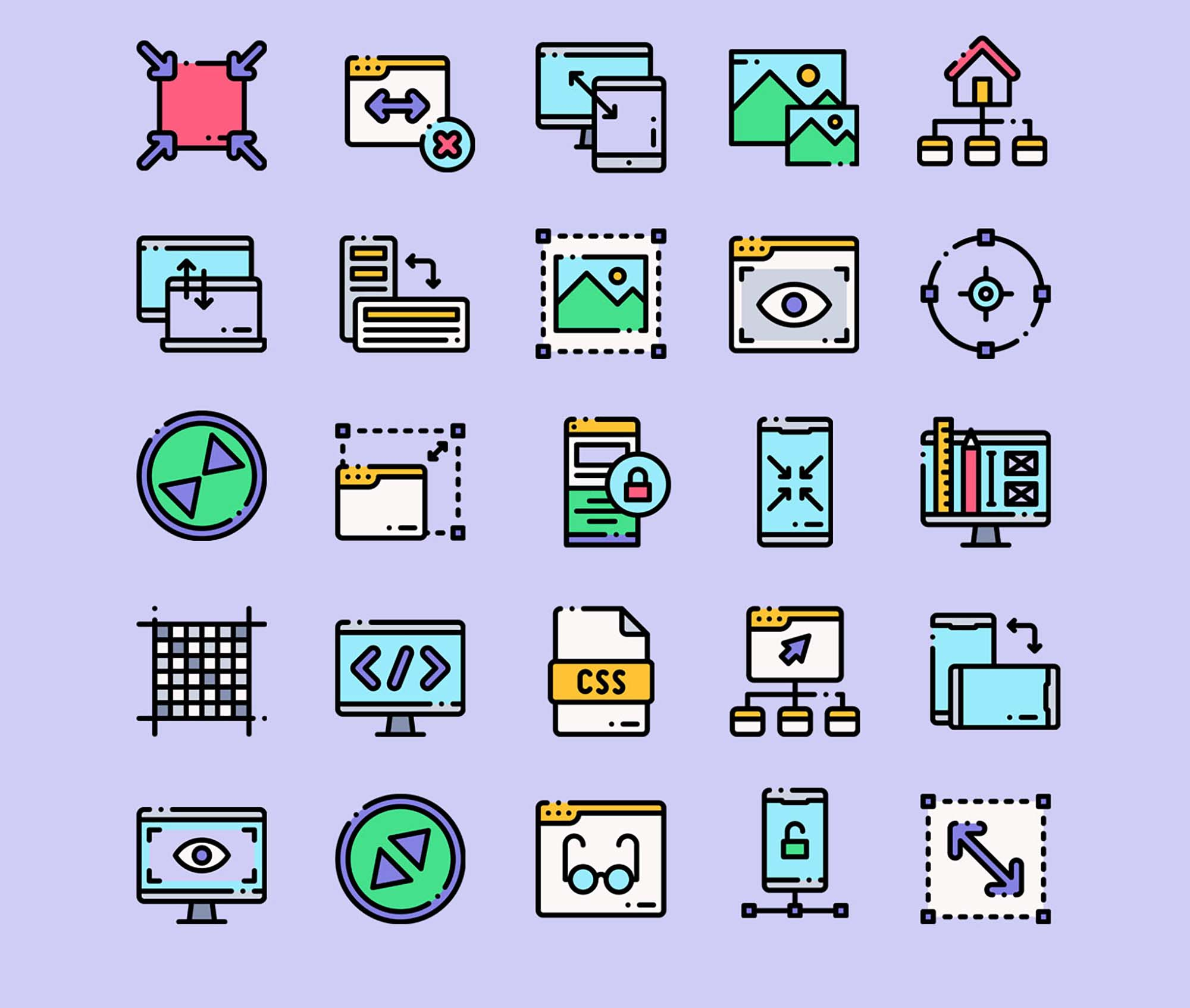 Responsive Design Vector Icons Part 2