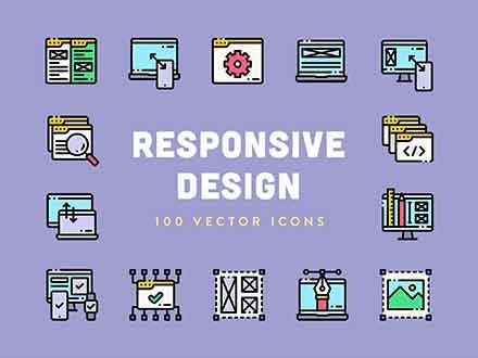 Responsive Design Vector Icons
