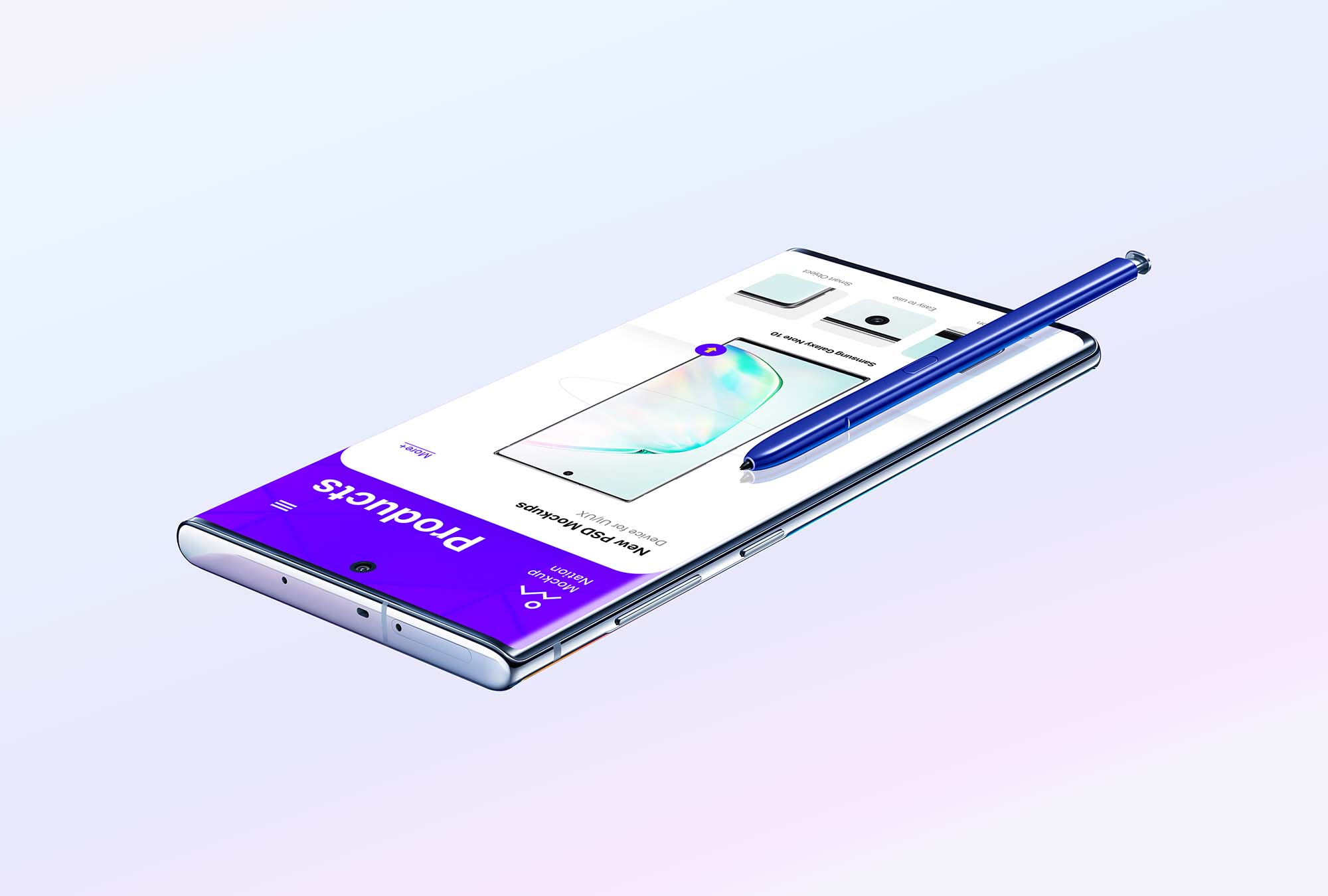 Samsung Galaxy Note 10 Floating
