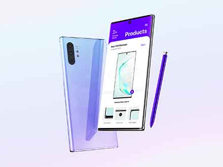 Samsung Galaxy Note 10 Mockup