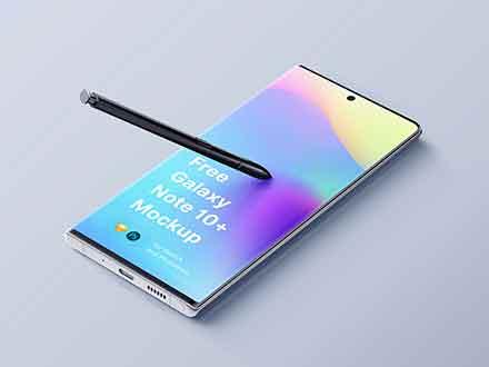 Samsung Galaxy Note 10 Plus Mockup