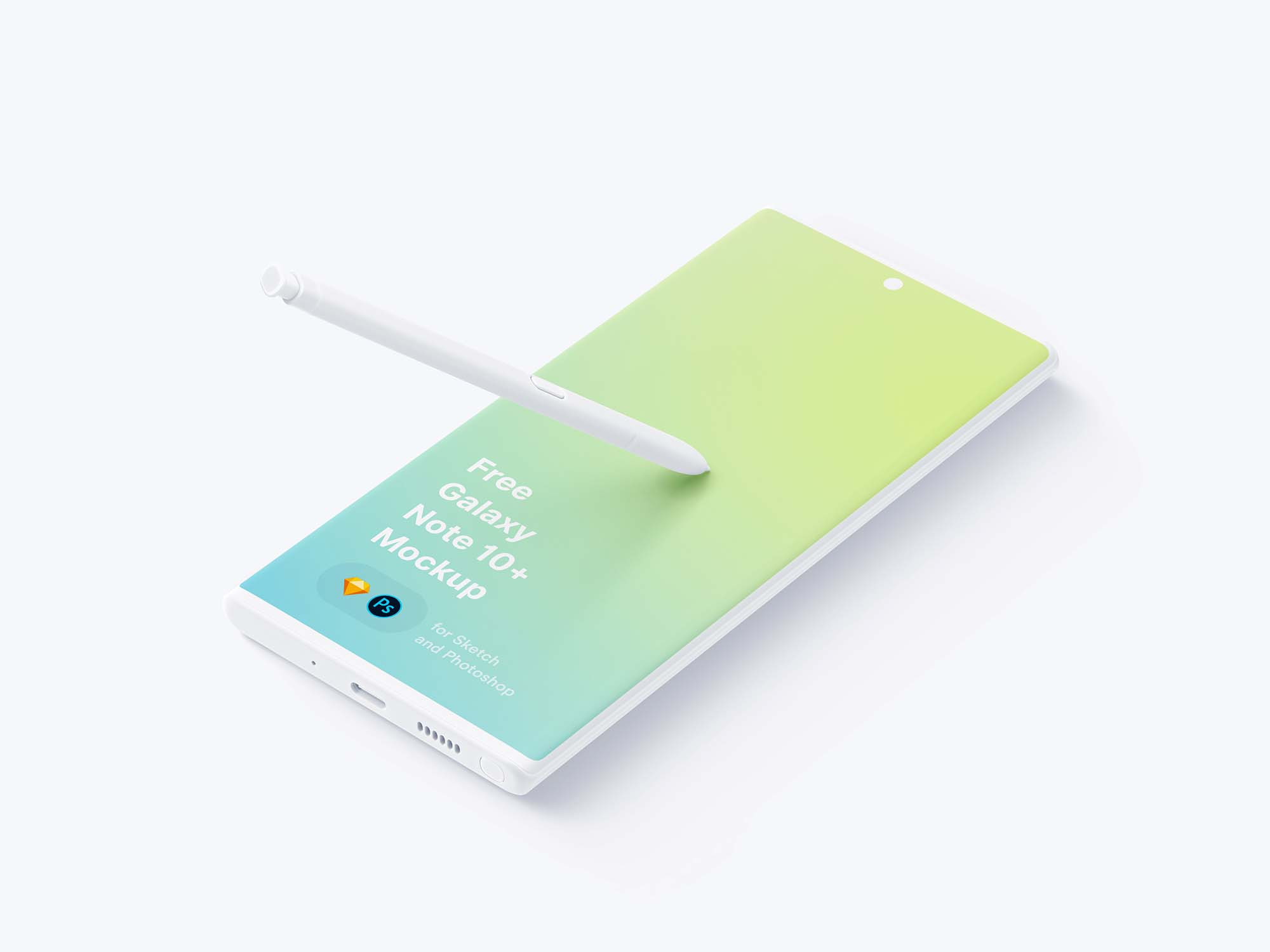 Samsung Galaxy Note 10 Plus Mockup 2