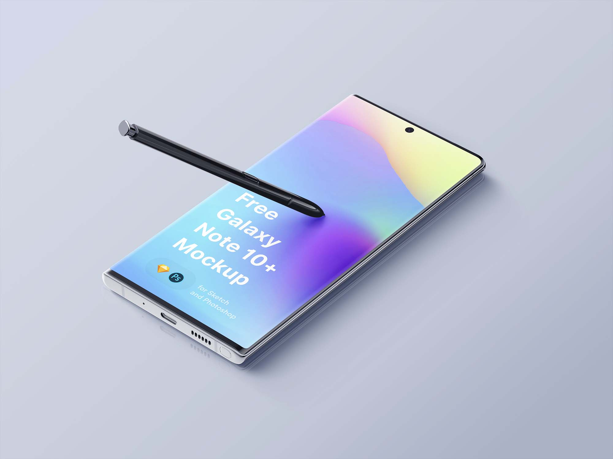 Samsung Galaxy Note 10 Plus Mockup