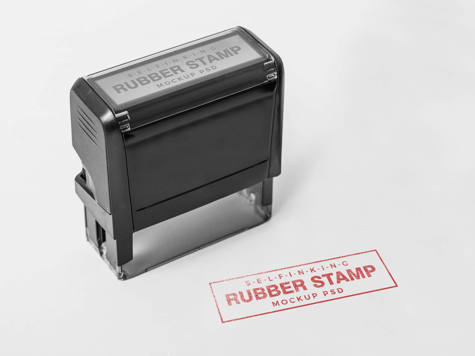 Self Inking Rubber Stamp Mockup 2