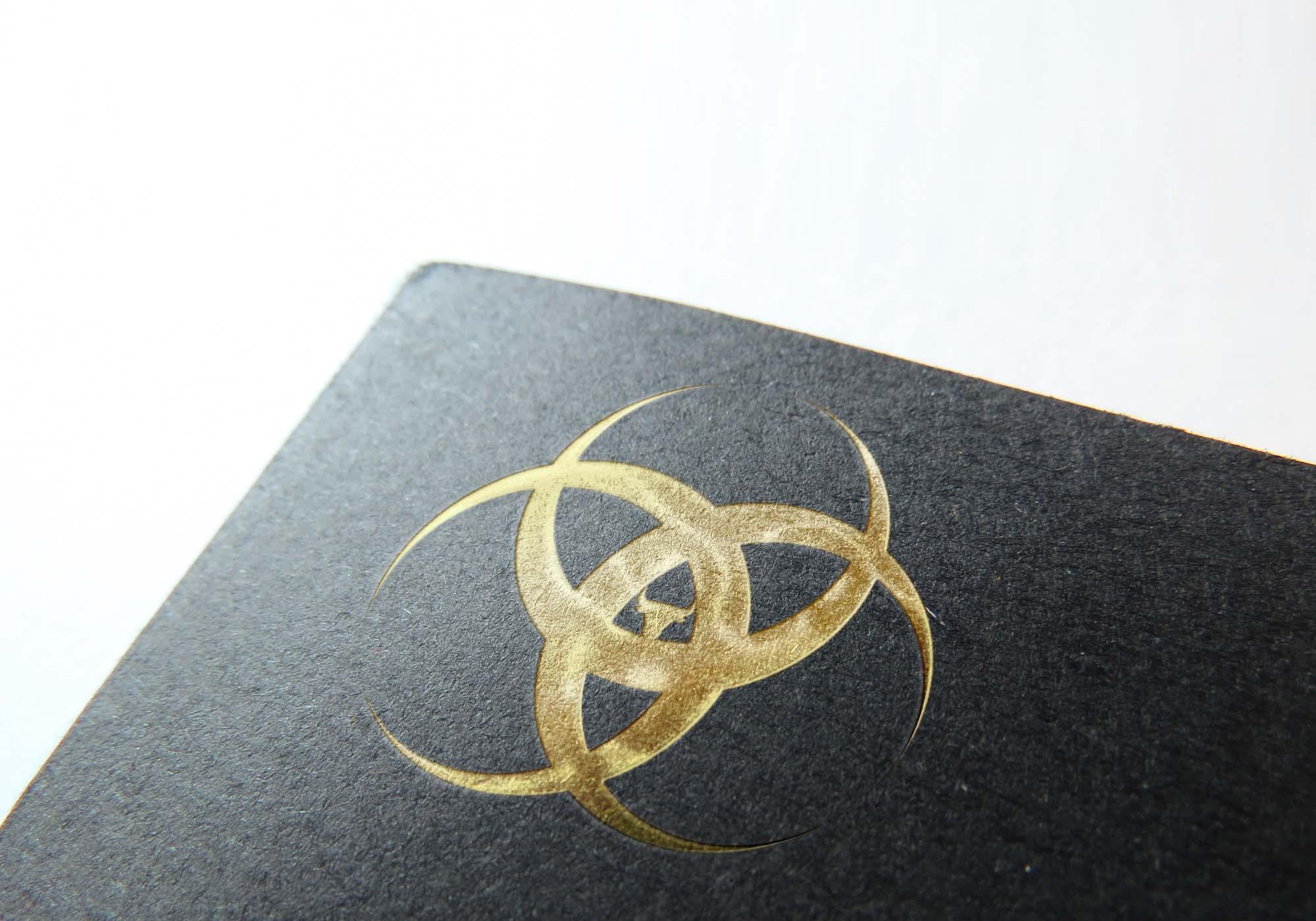 Slick Gold Foil Stamp Mockup 2