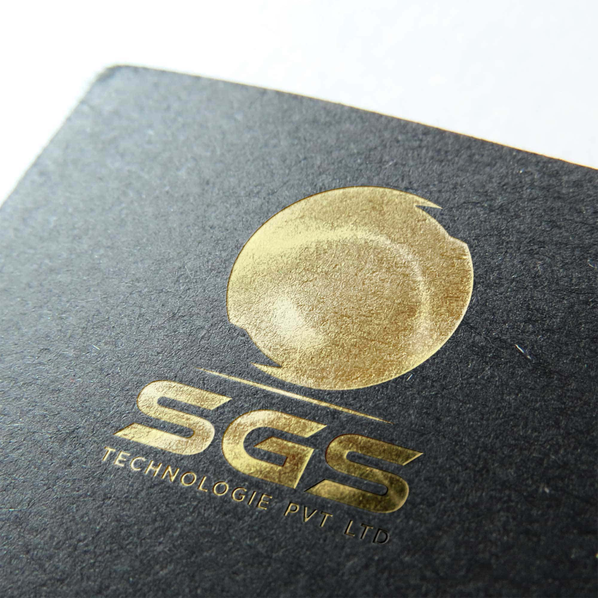 Slick Gold Foil Stamp Mockup