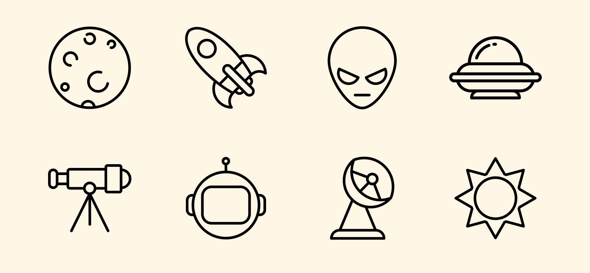Space Vector Icons 3