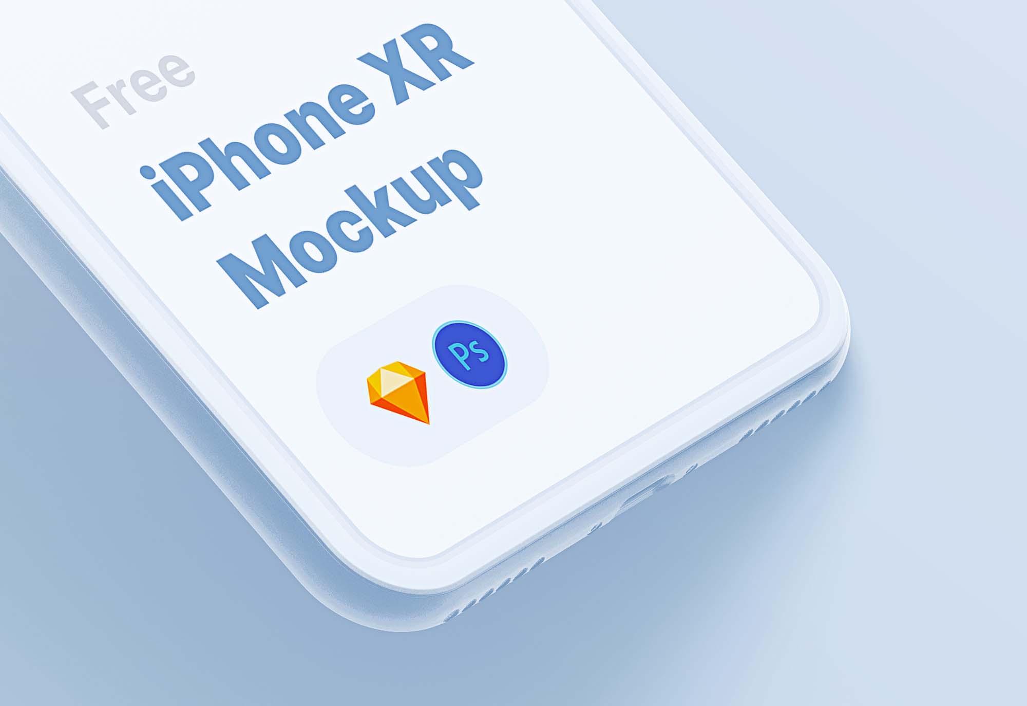 Stylized iPhone XR Mockup 2