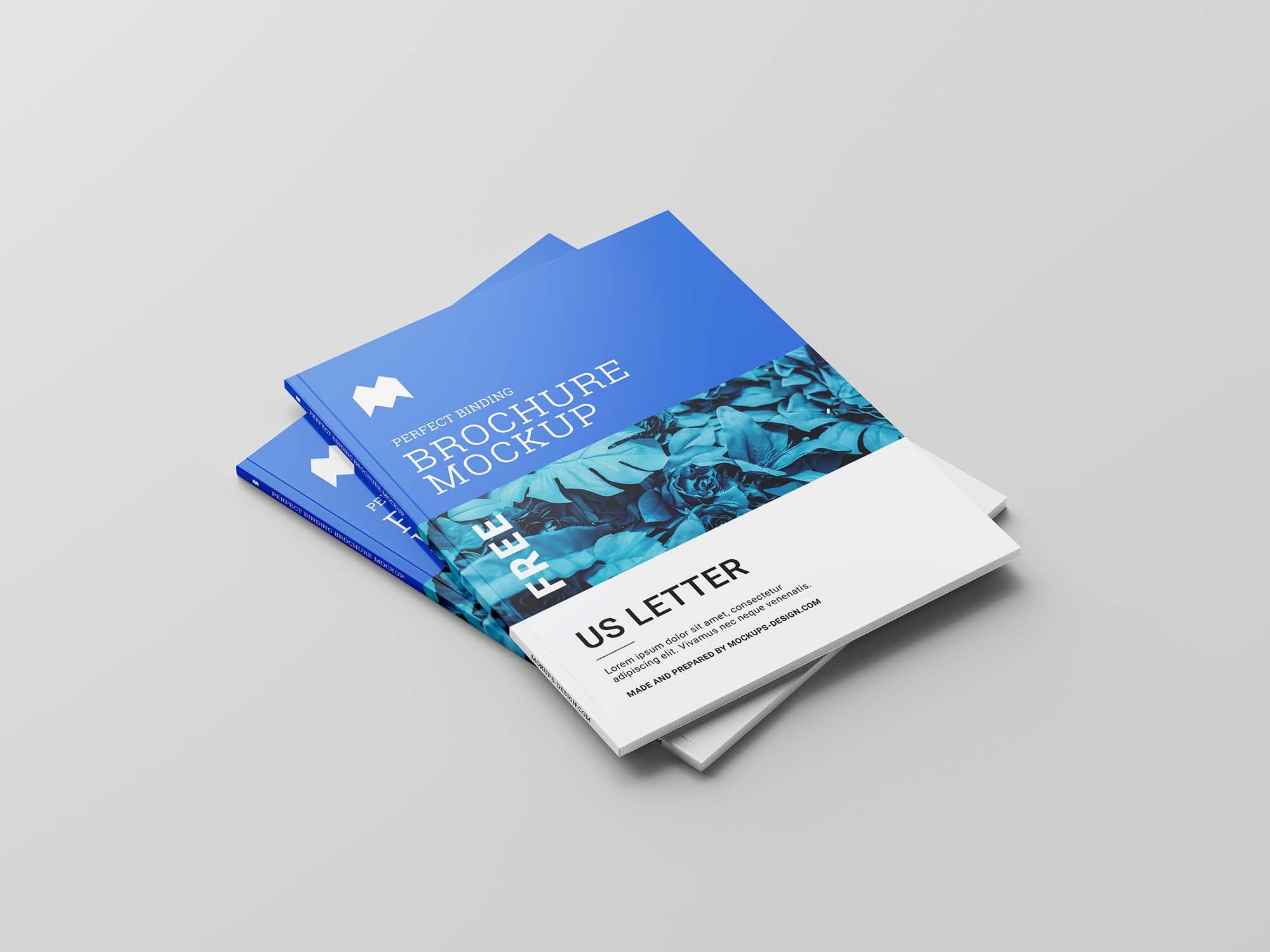 US Letter Brochure Mockup 4