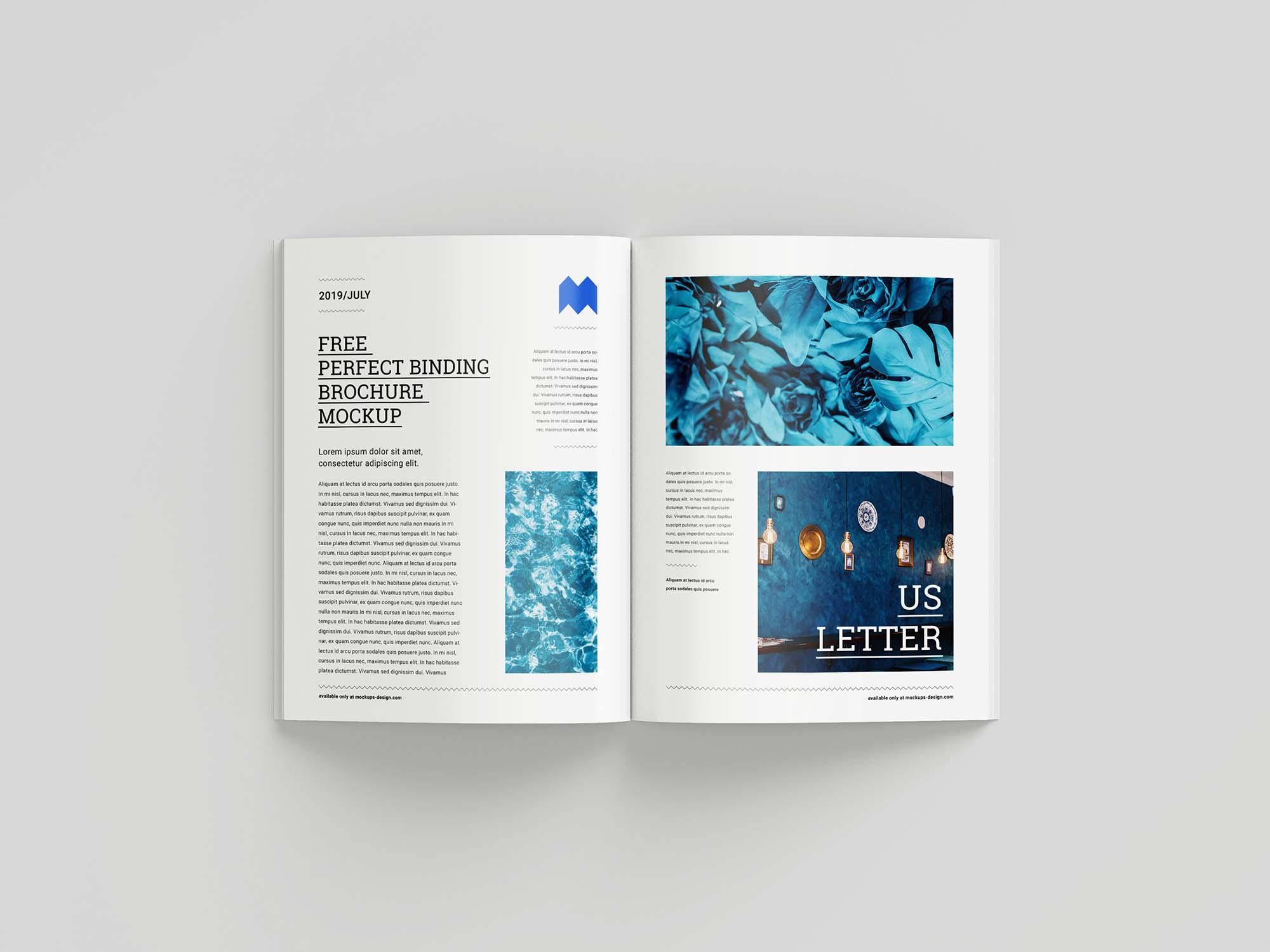 US Letter Brochure Mockup 5