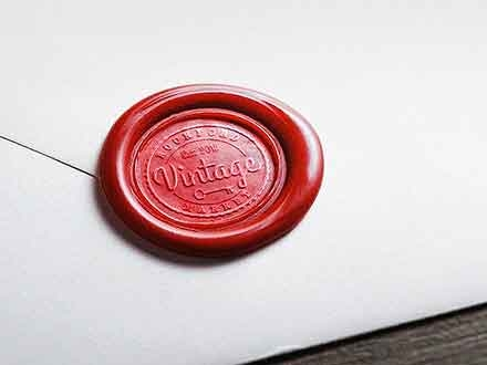 Wax Seal Logo Mockup