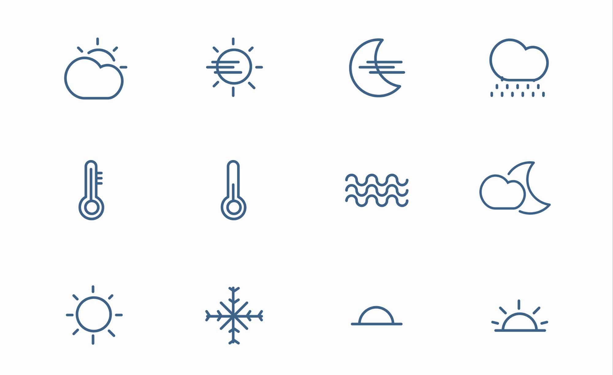 Weather icons 1