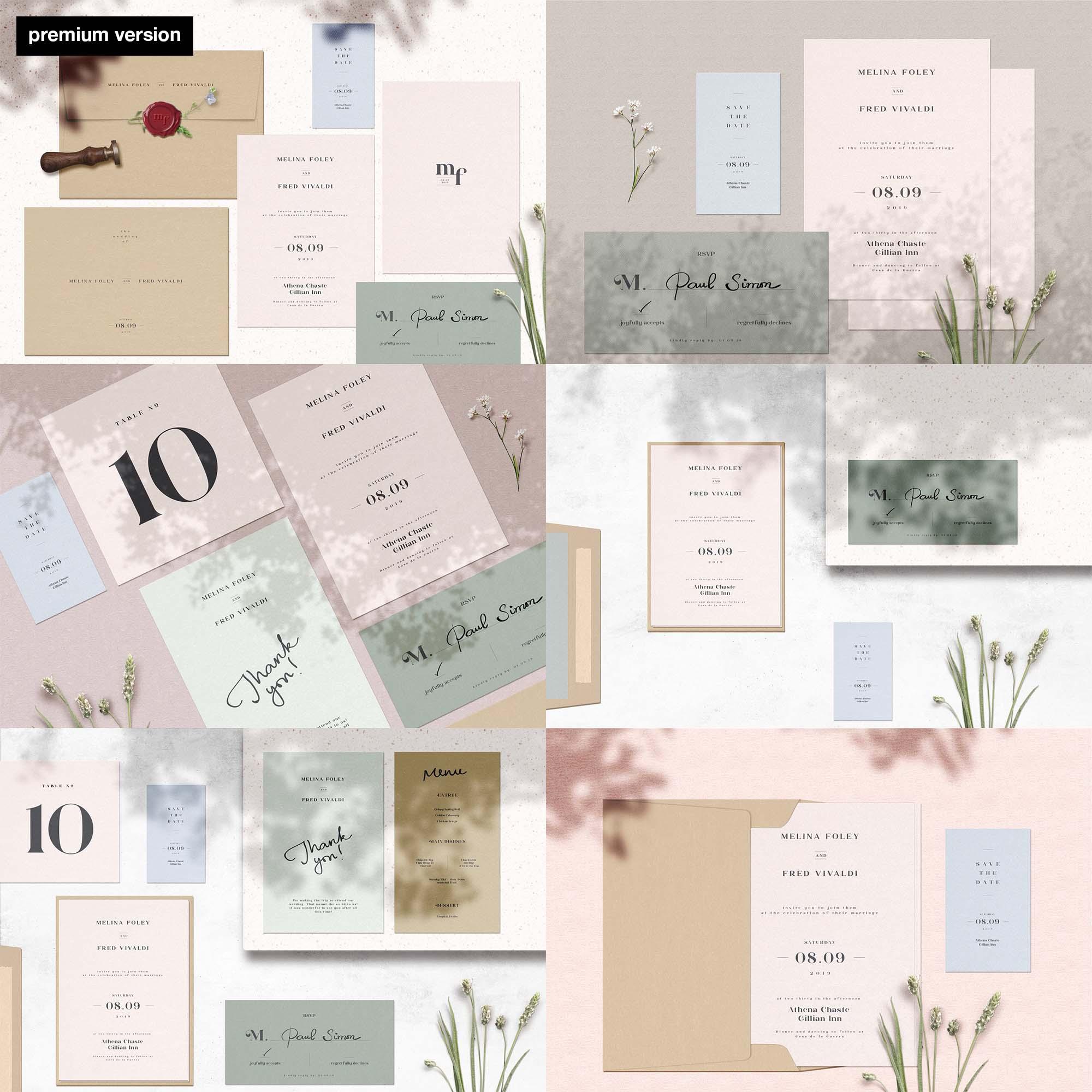 Wedding Cards Mockup - Premium Version