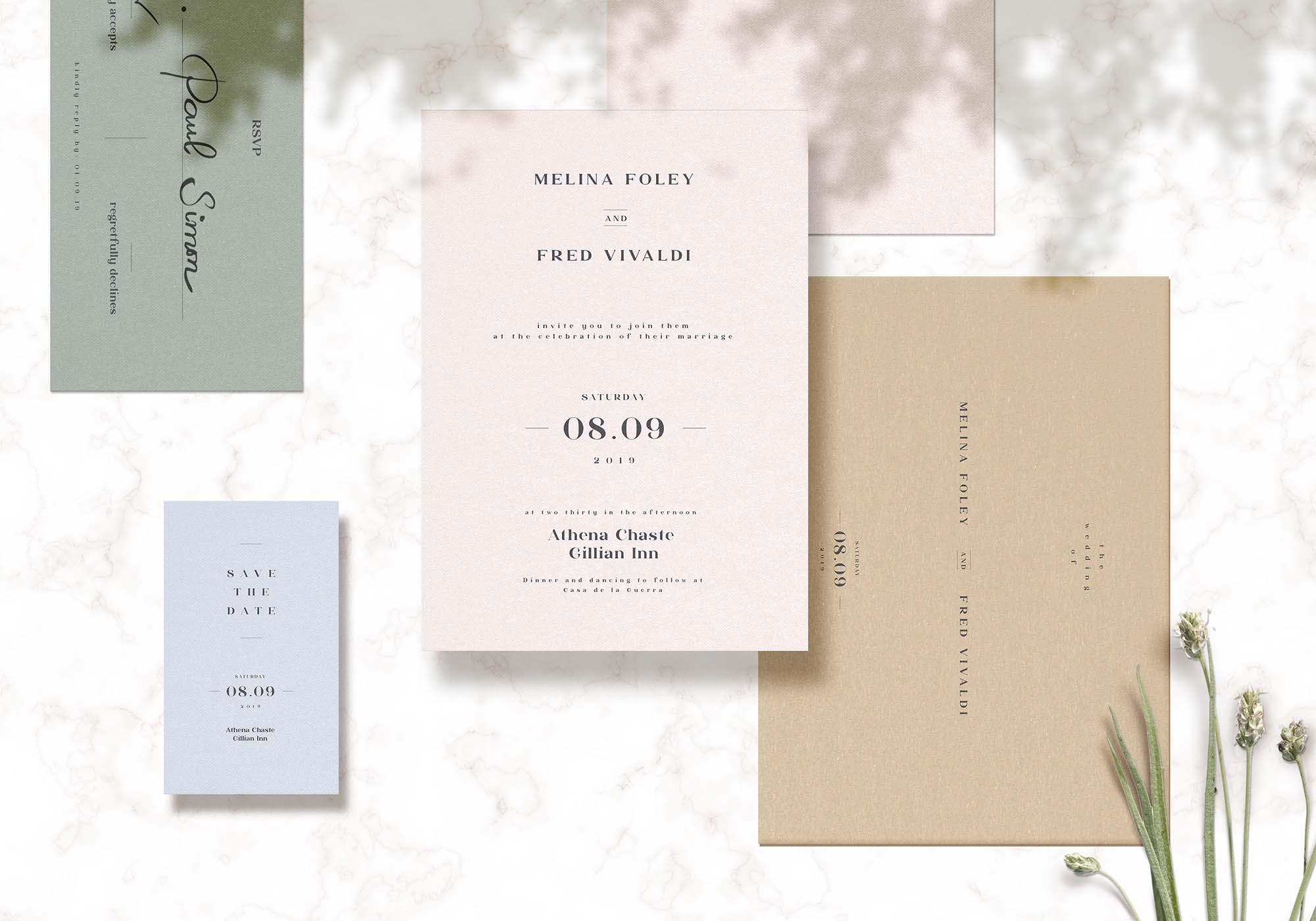 Wedding Cards Mockup