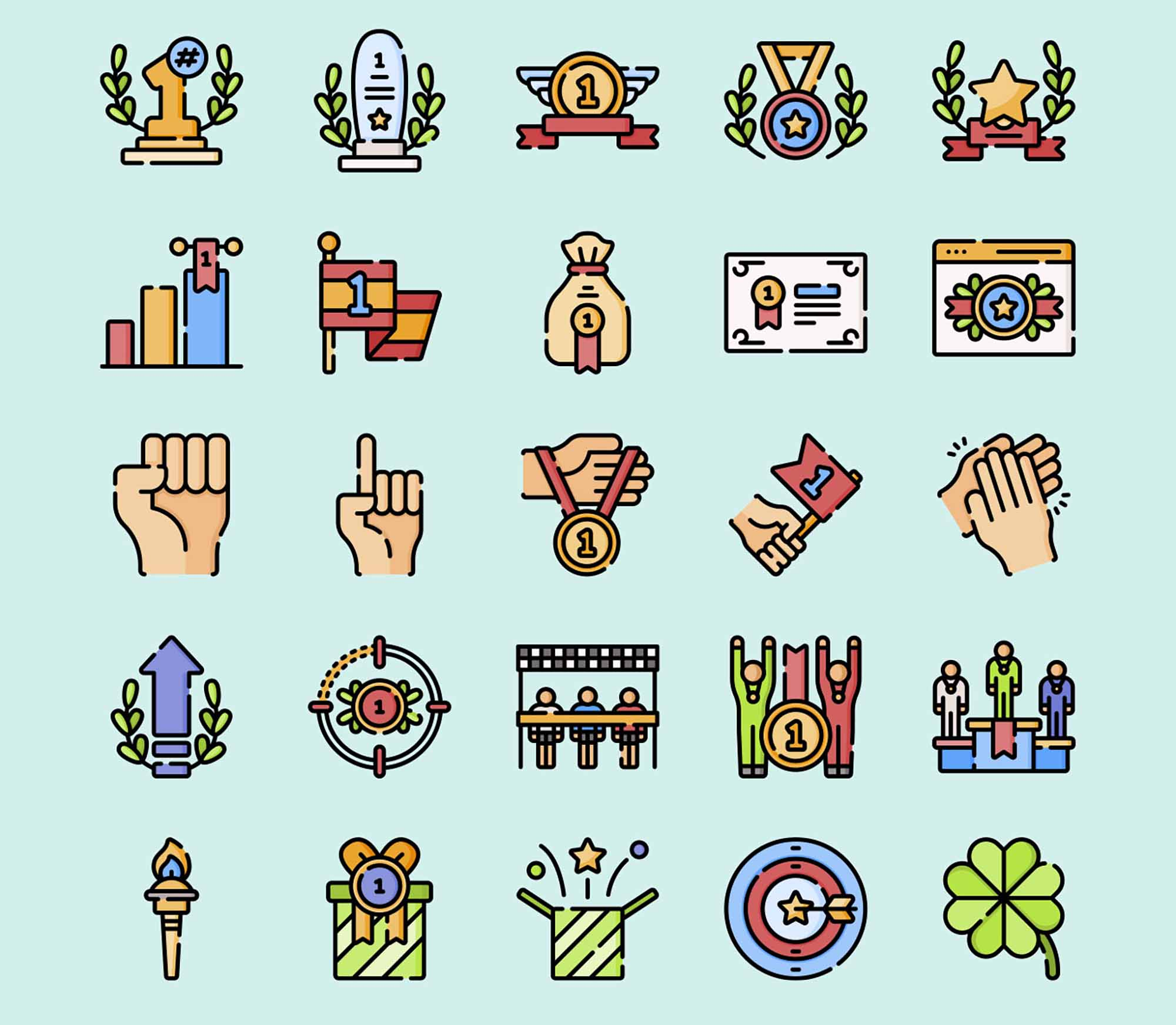 Wining Vector Icons 3