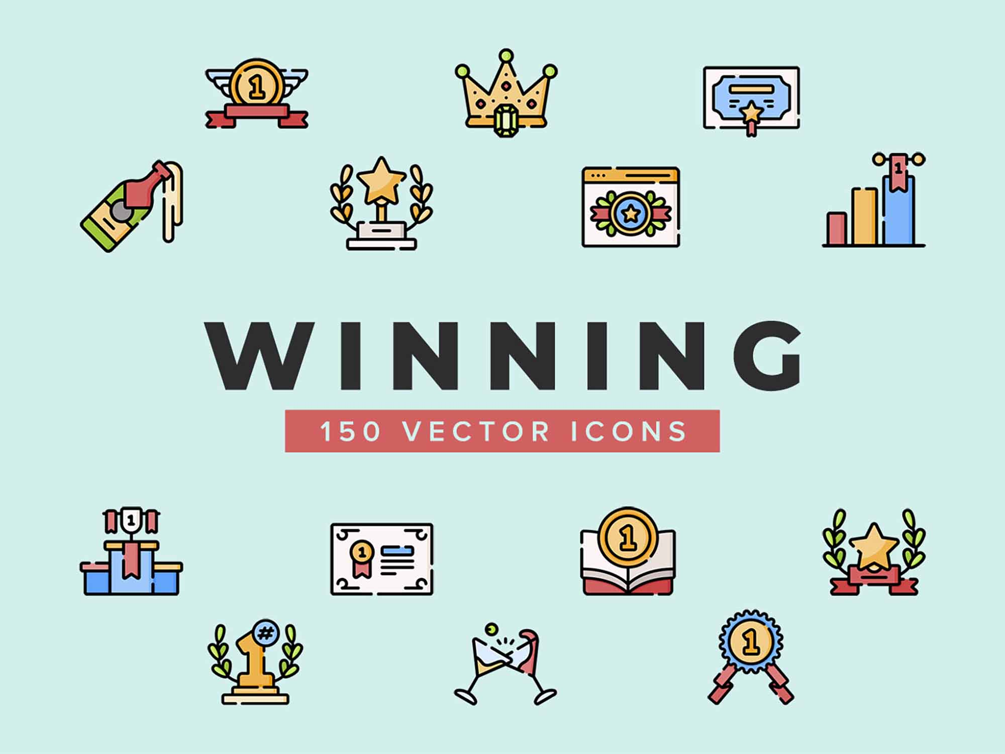 Wining Vector Icons
