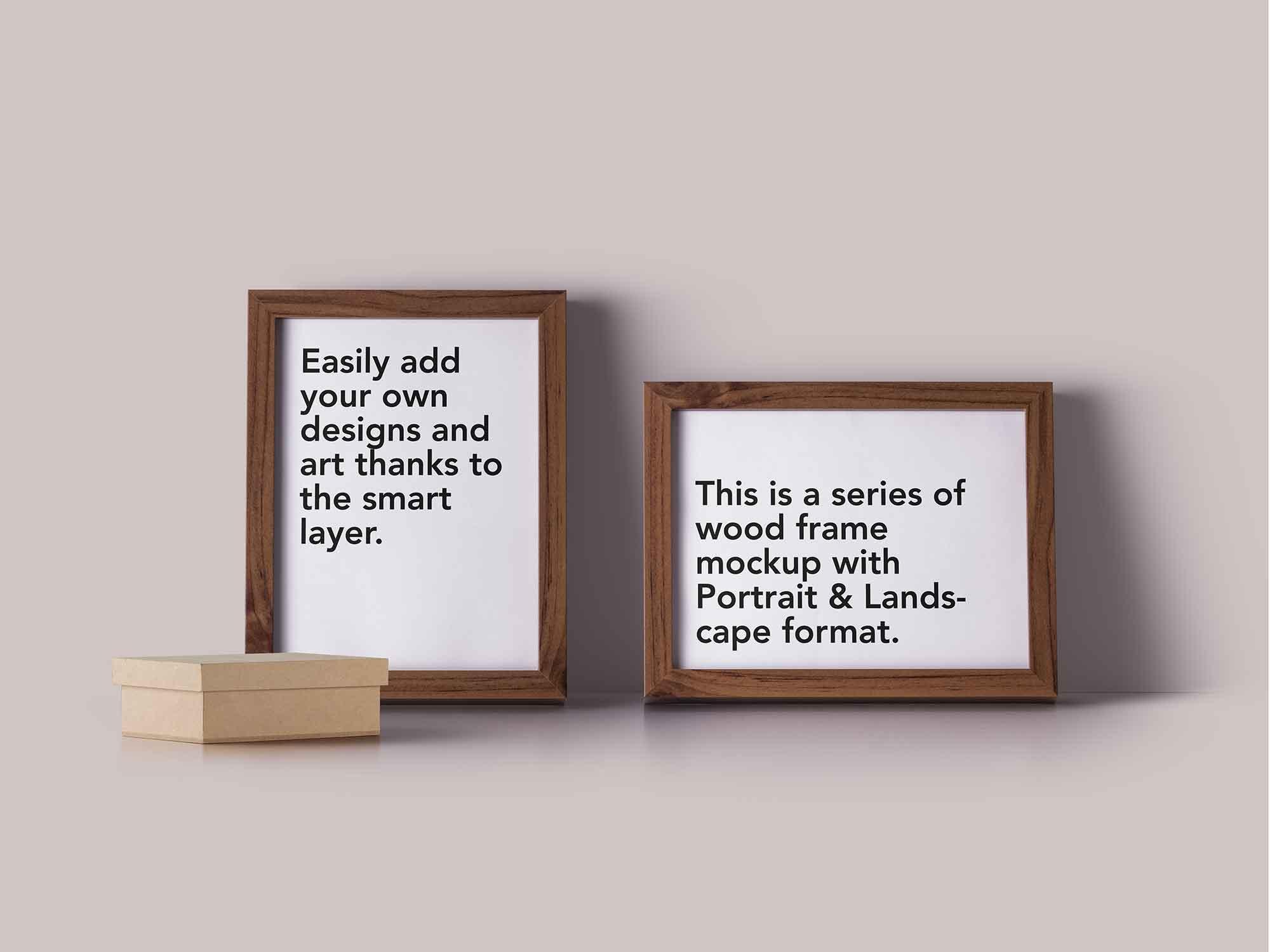 Wood Frame Mockup