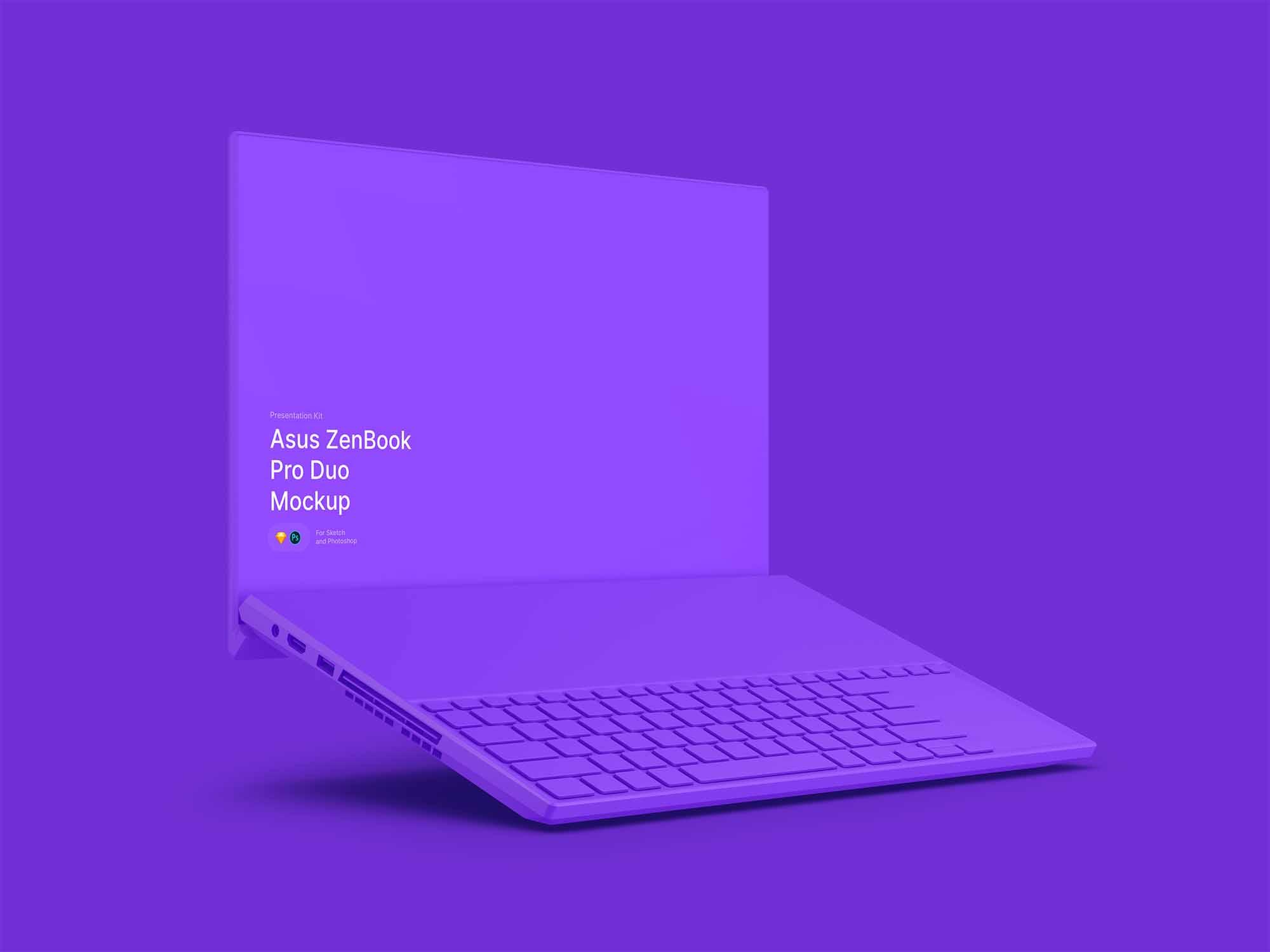 ZenBook Pro Duo Mockup 2