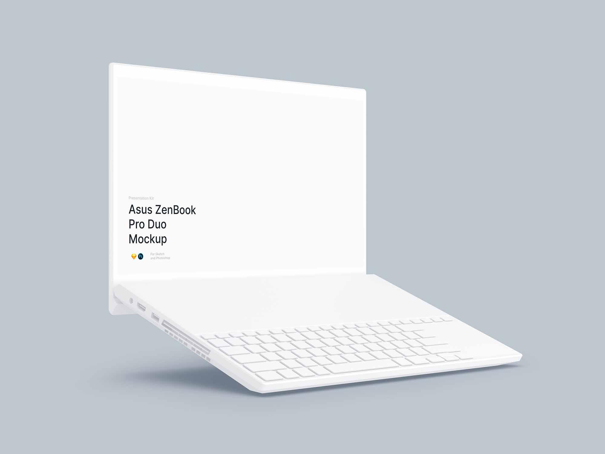 ZenBook Pro Duo Mockup 3