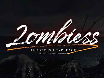 Zombies Brush Font