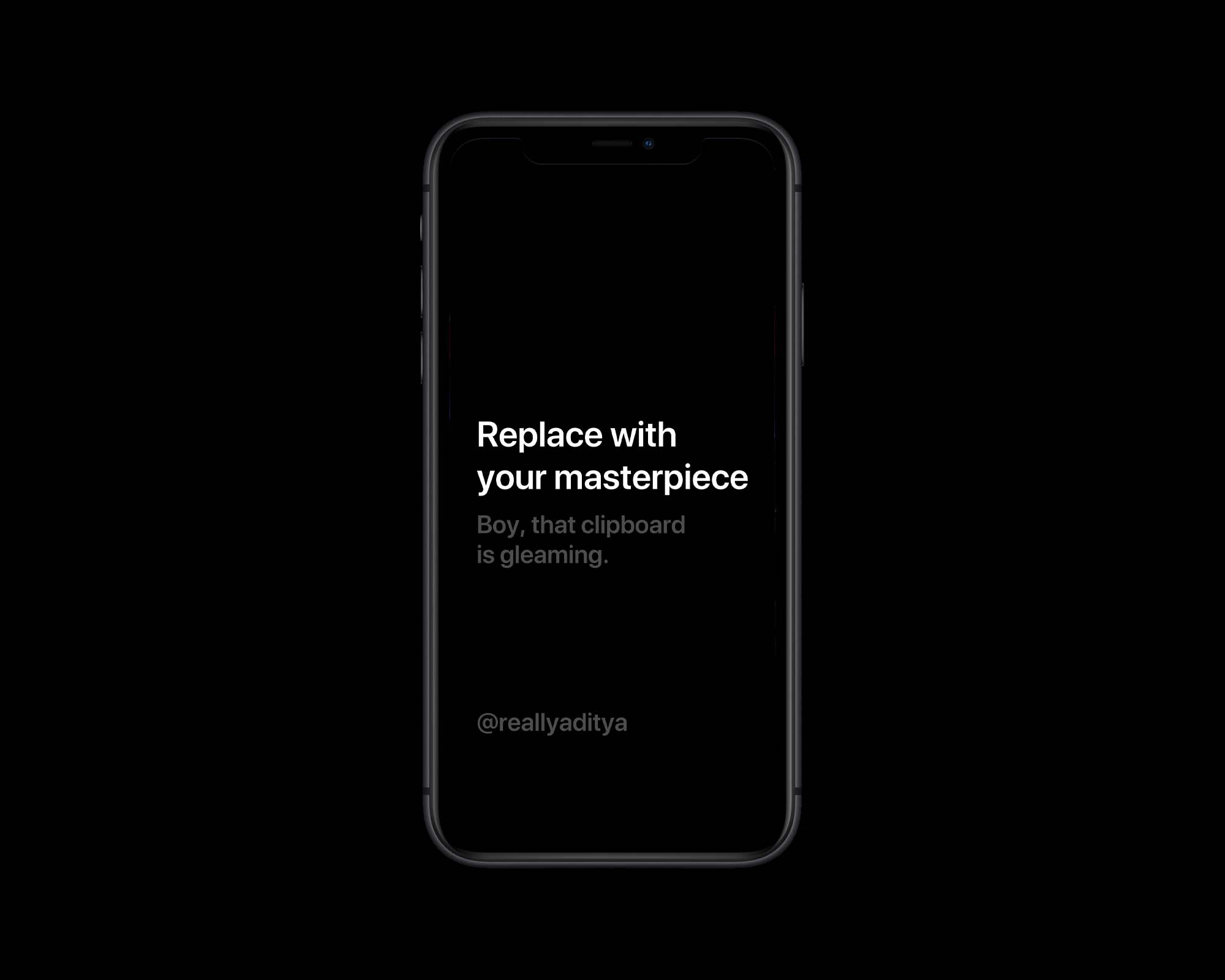 iPhone 11 PSD Mockup Black