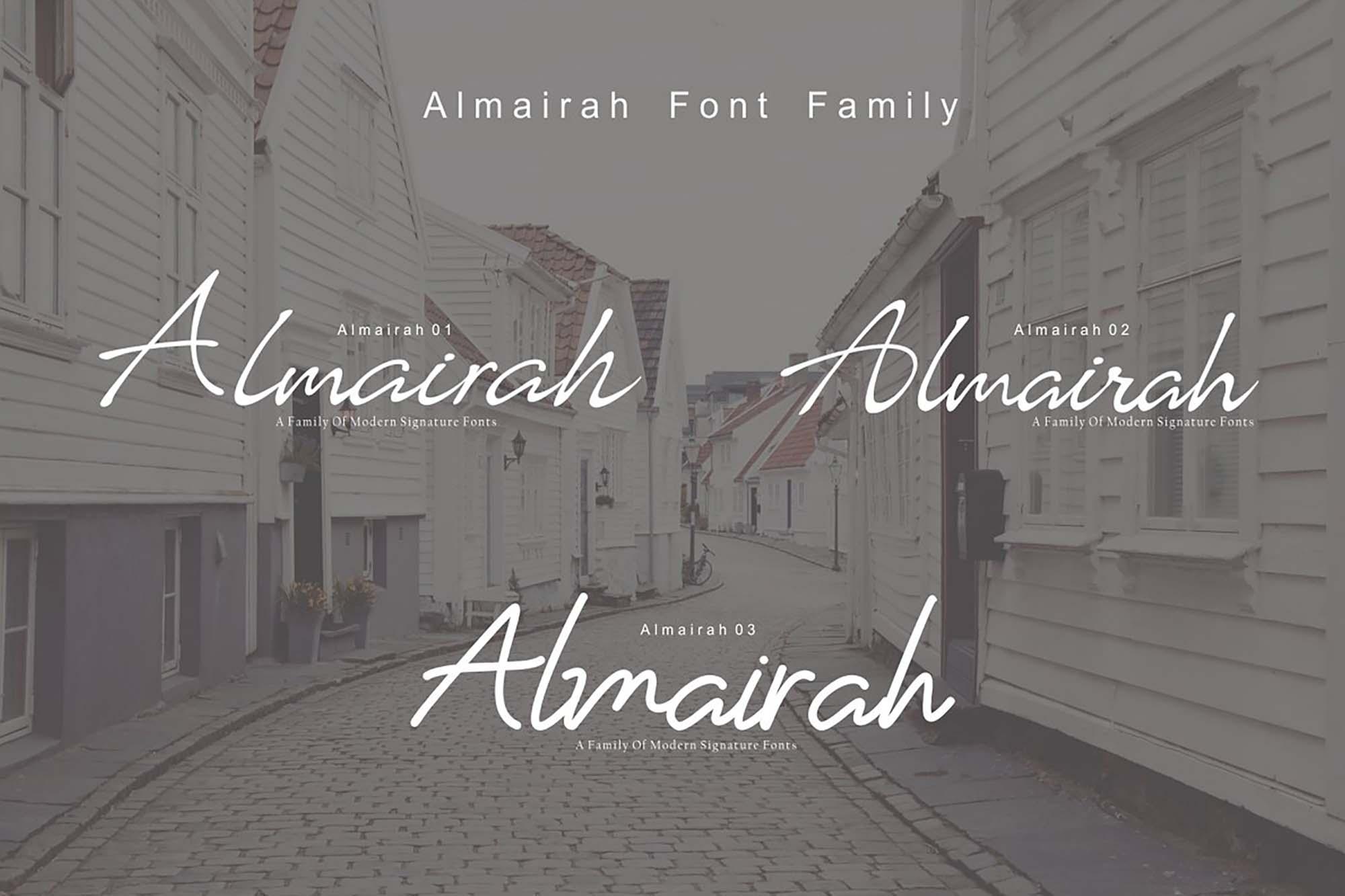 Almairah Script Font 1
