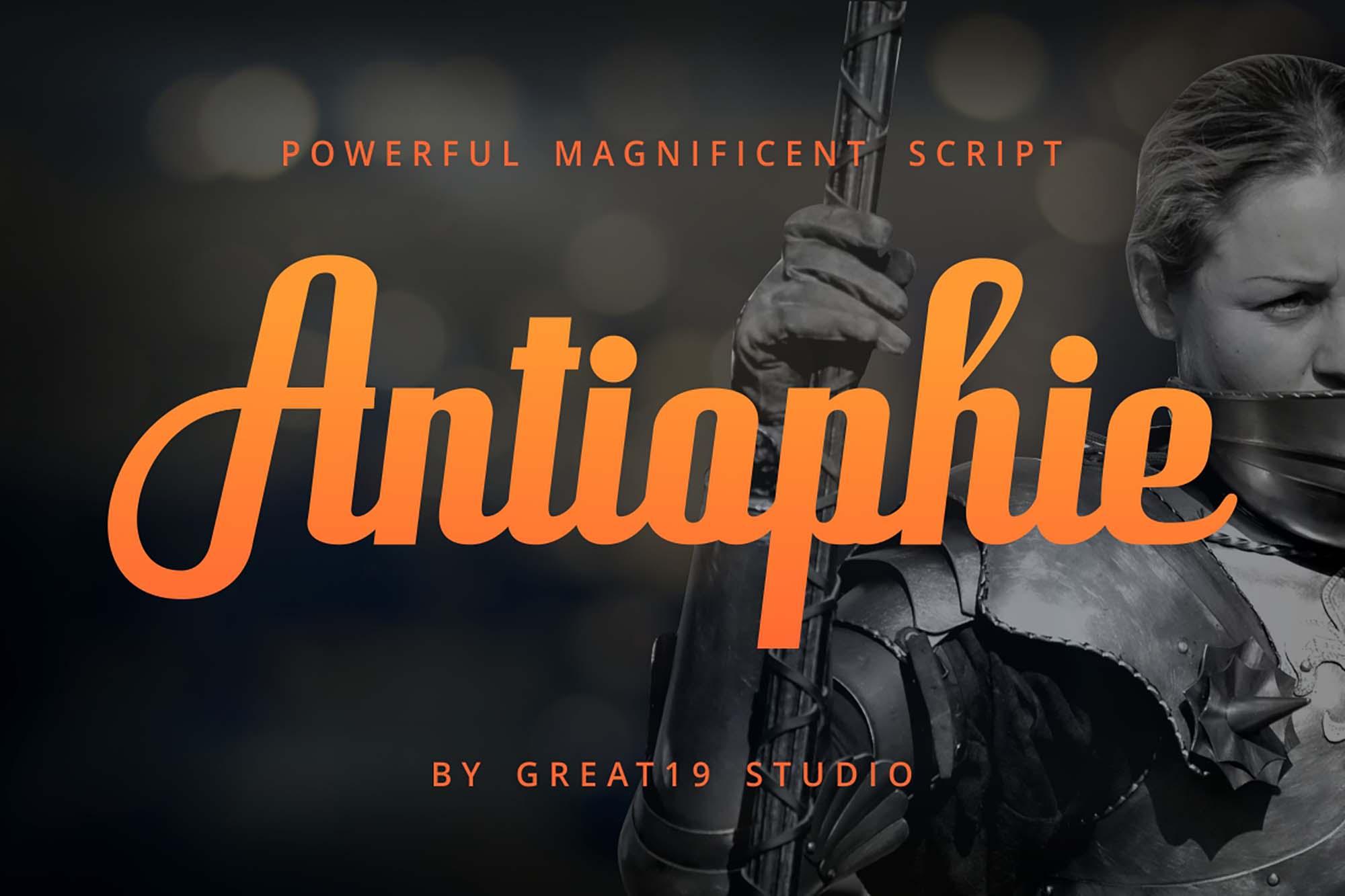 Antiophie Script Font