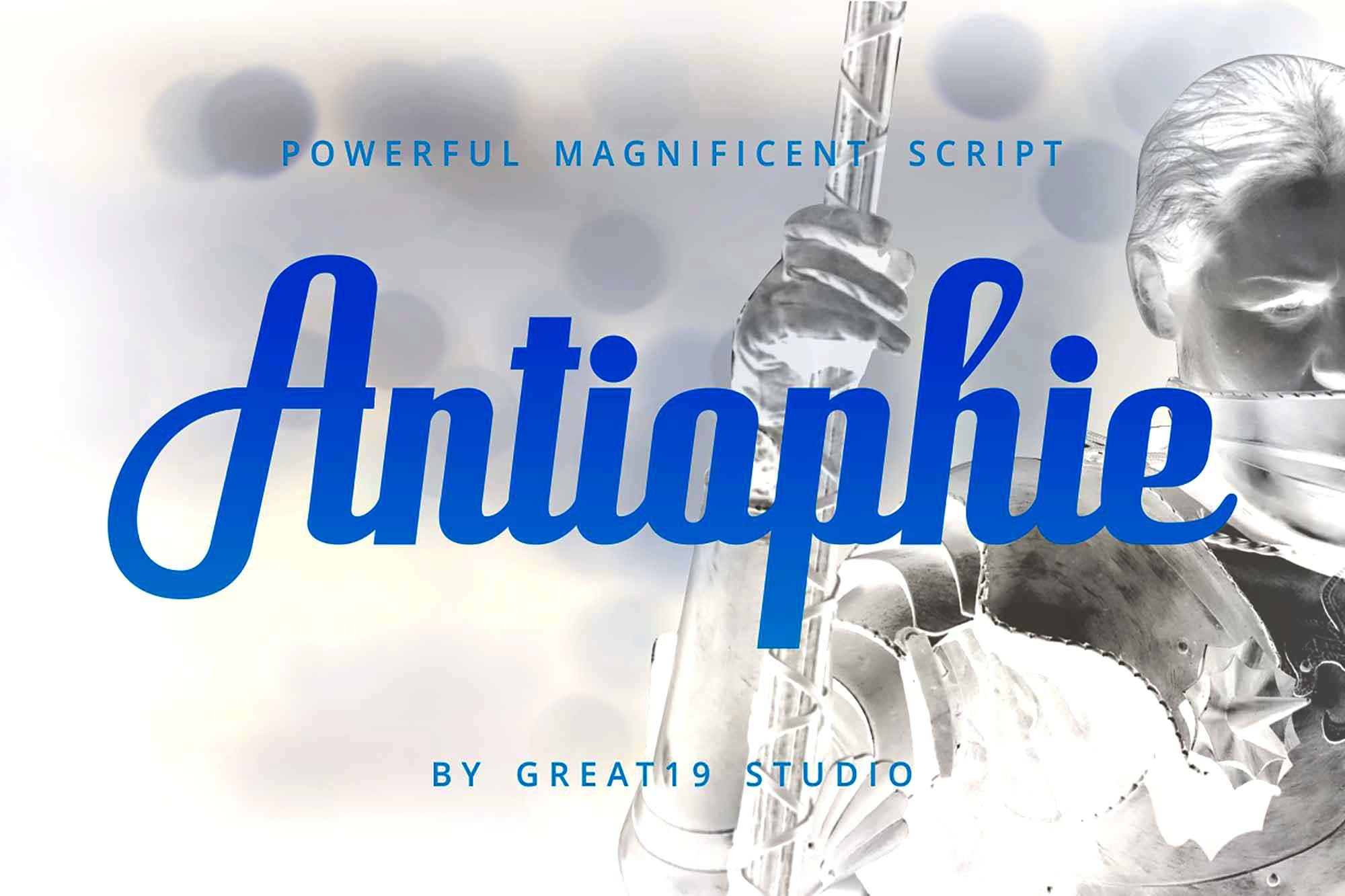 Antiophie Script Font 4